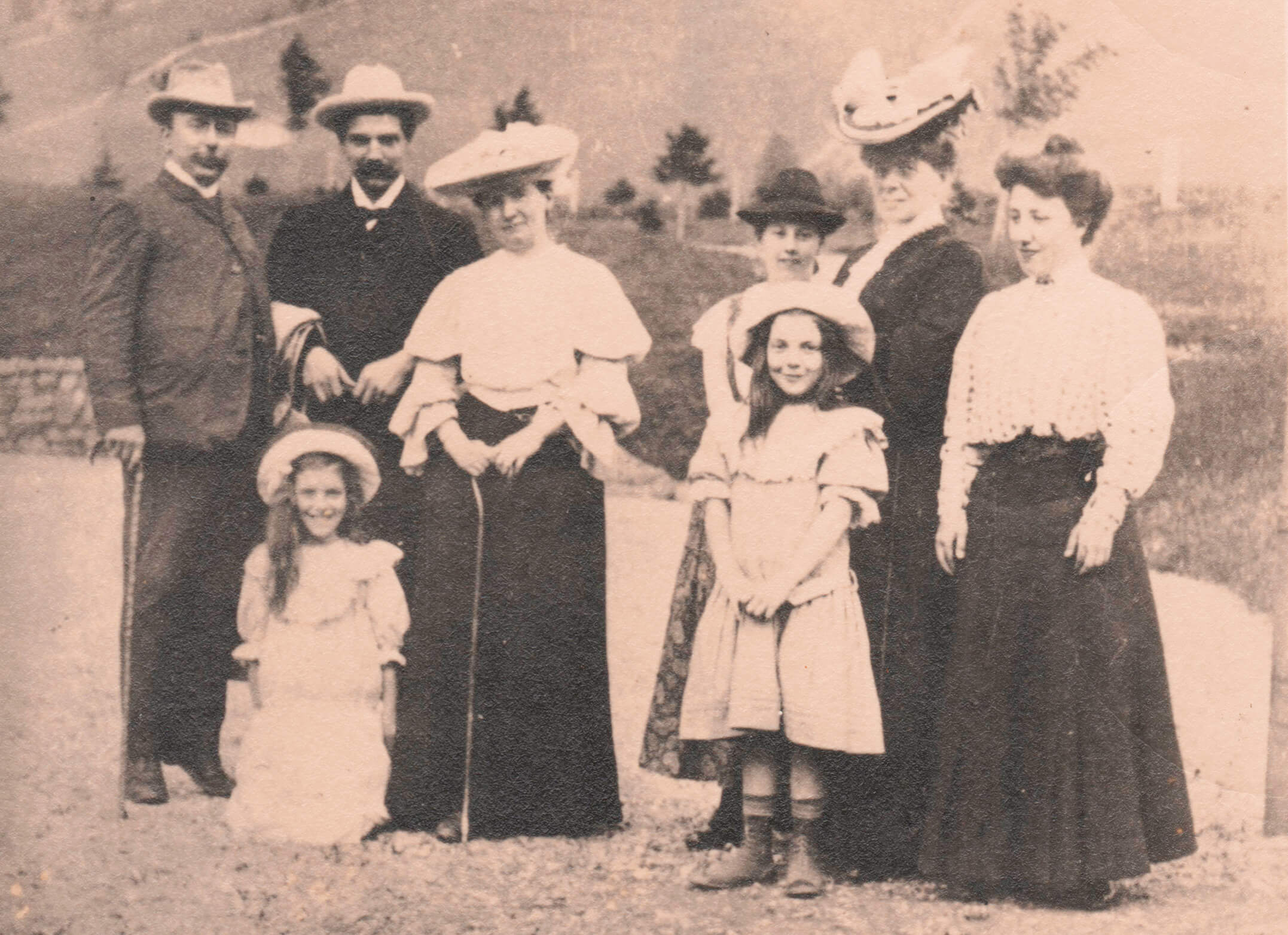Dr. Albert Schweitzer auf Besuch in der Grimmialp