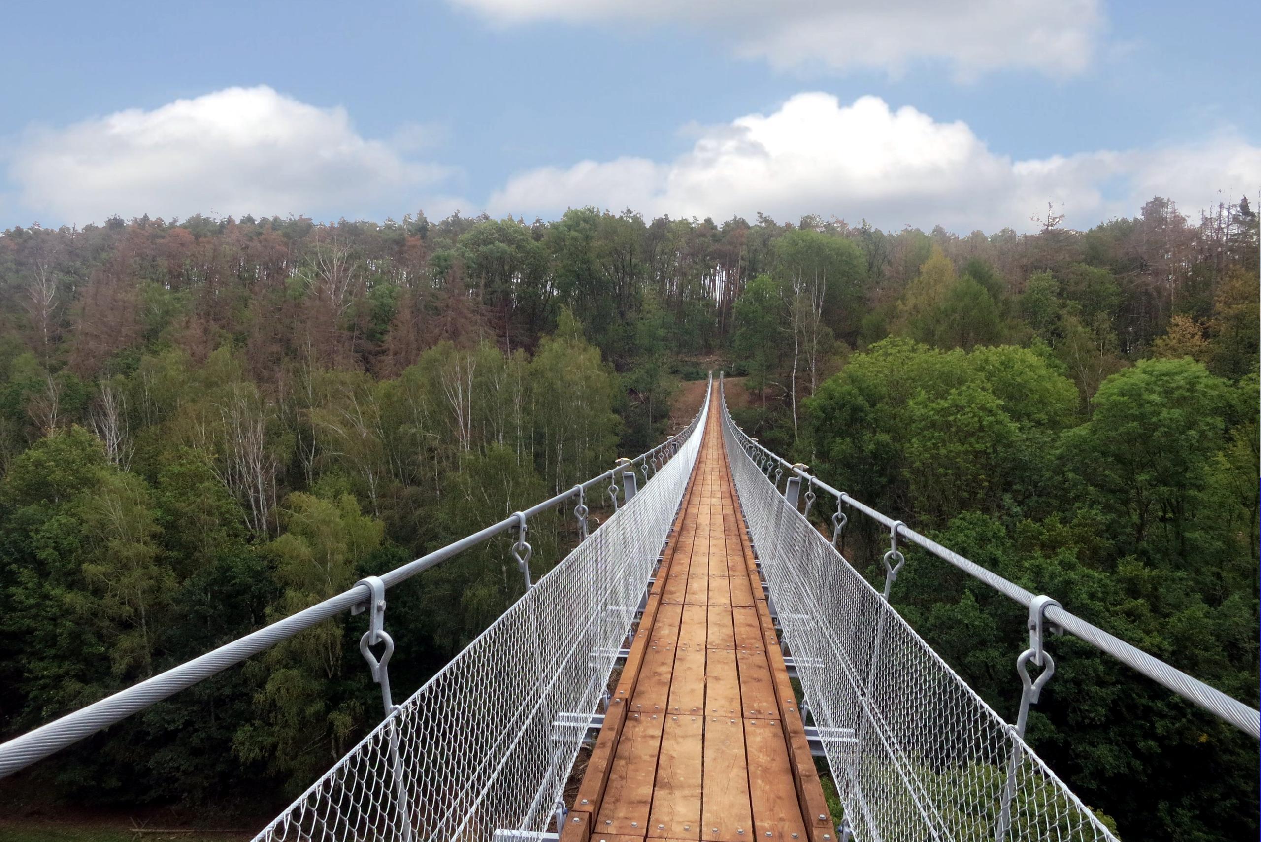Hängeseilbrücke Hohe Schrecke Einweihung