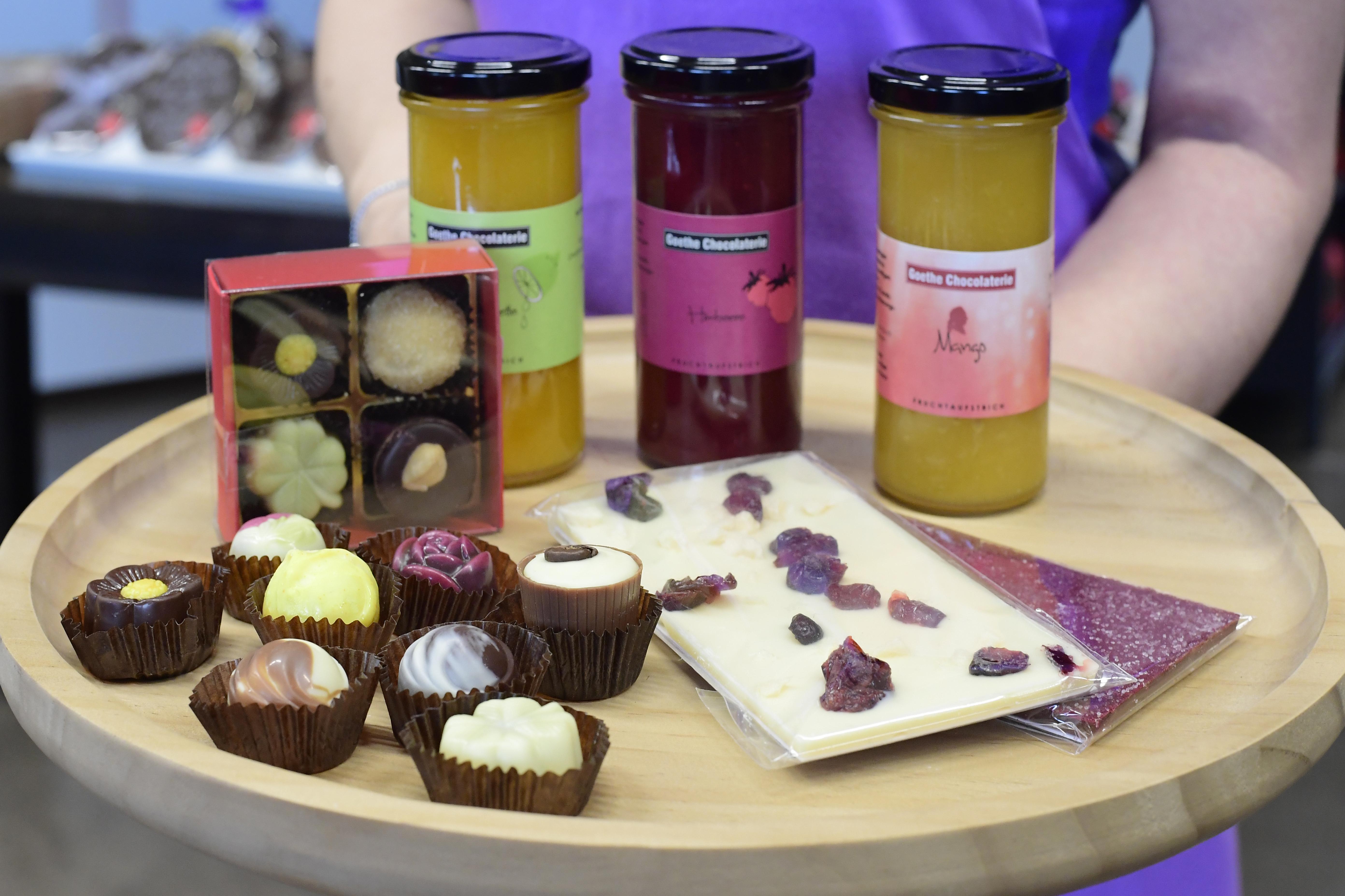 Produkte der Goethe Chocolaterie
