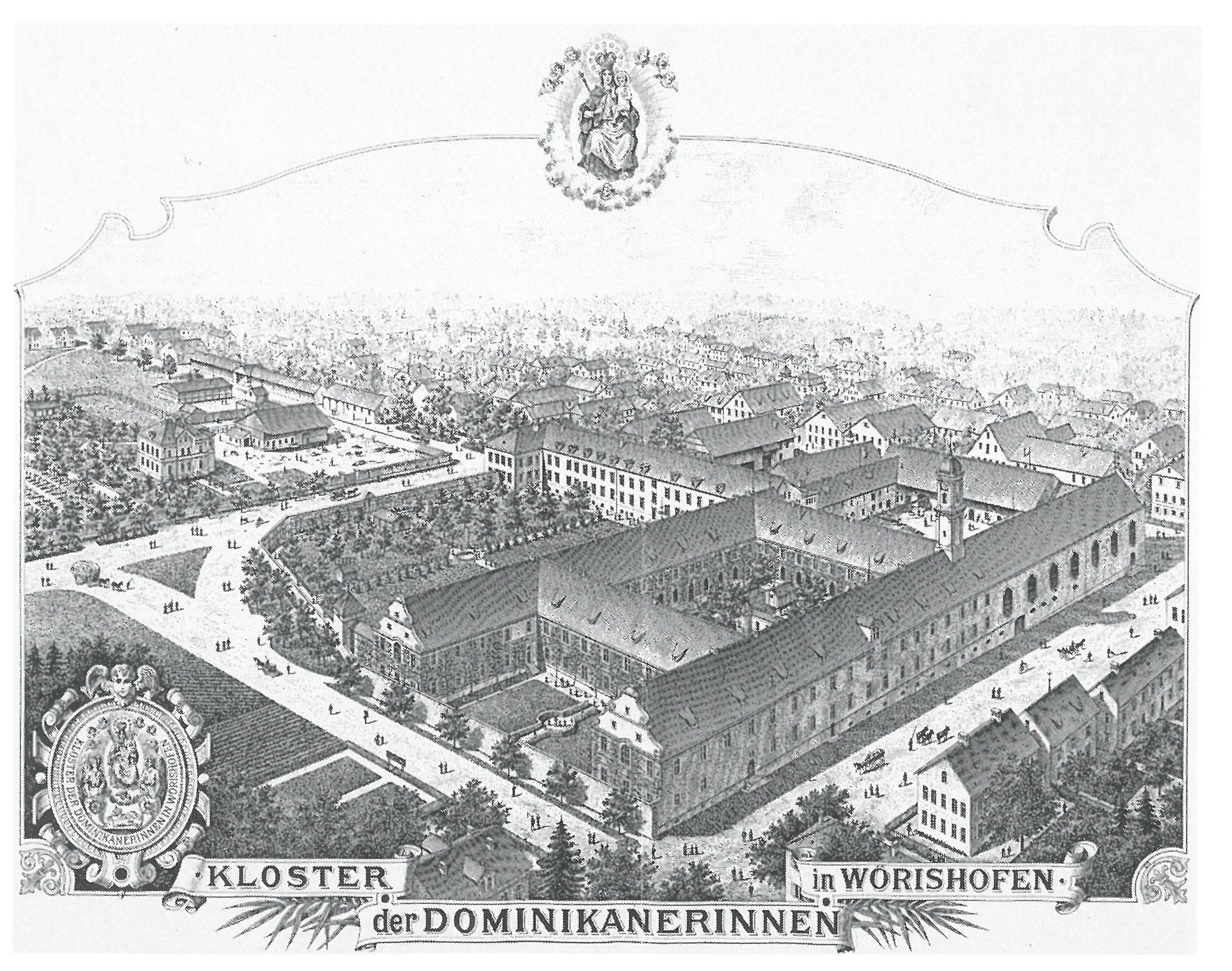 Historische Ansicht - Kloster der Dominikanerinnen