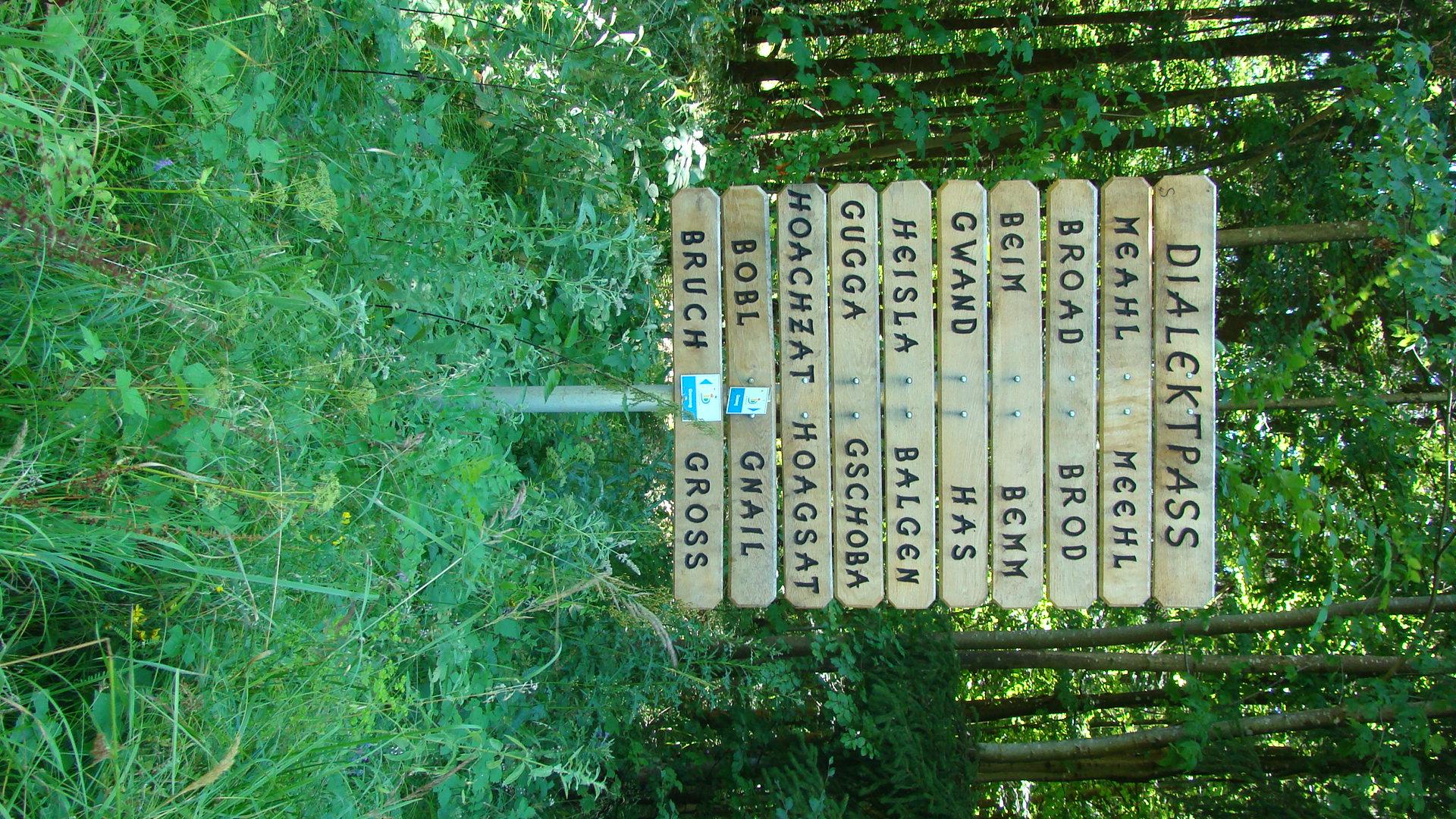 Dialektbaum am Grenzweg