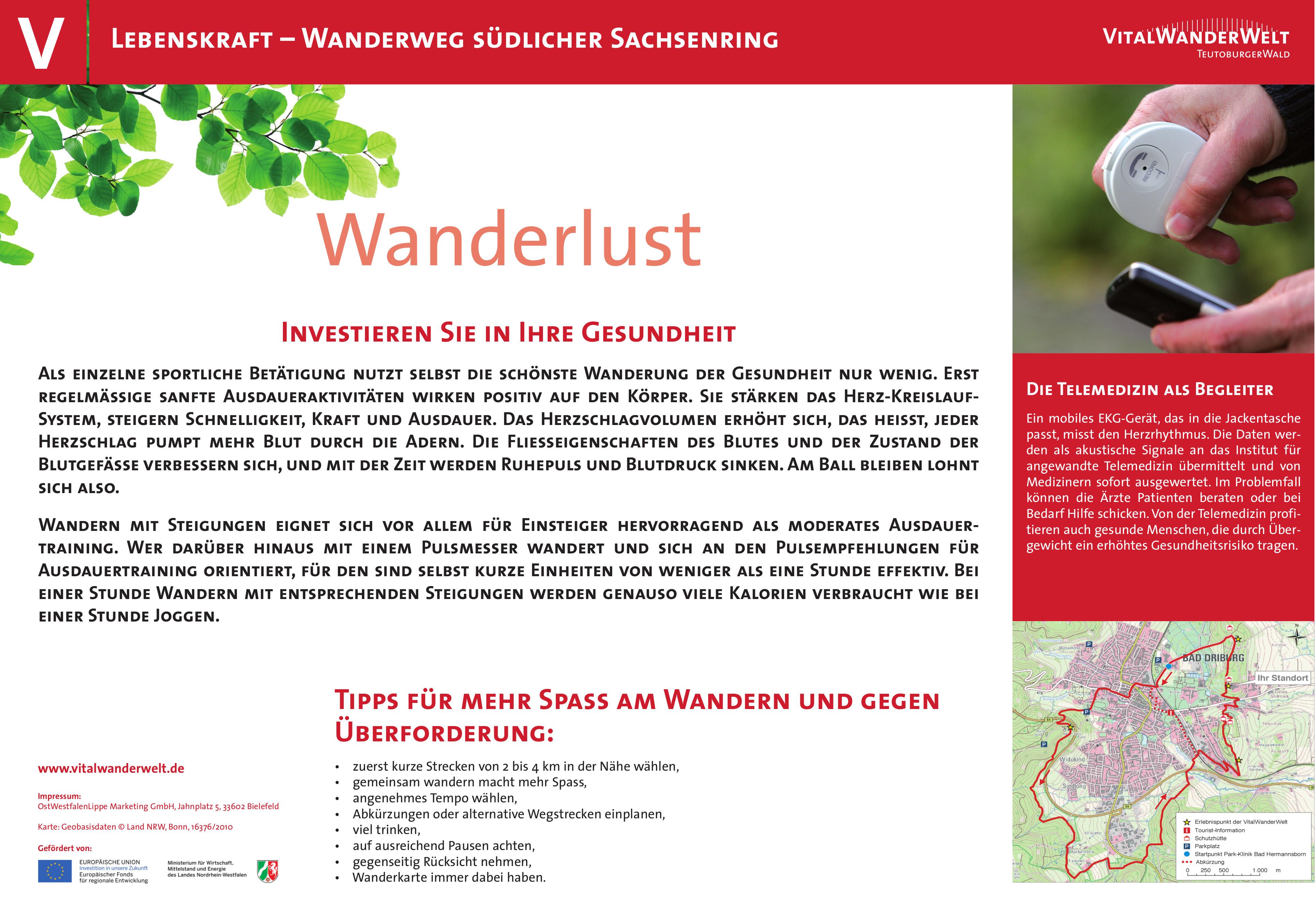 VitalWanderWelt Wanderweg südlicher Sachsenring - Wanderlust