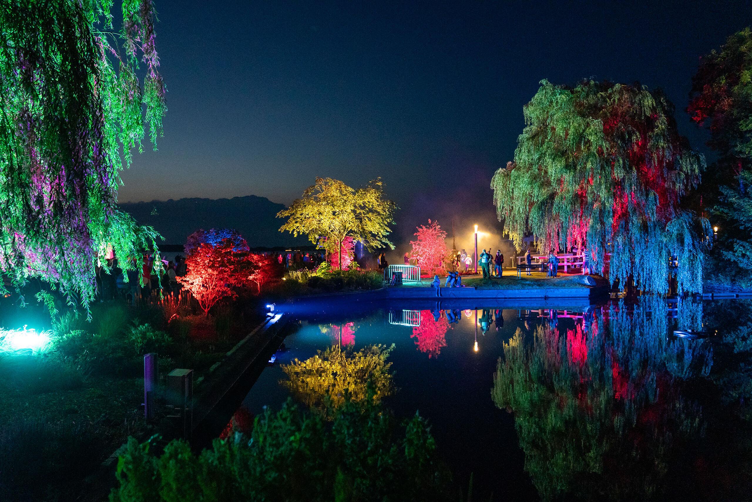 Lichternacht im Kurpark