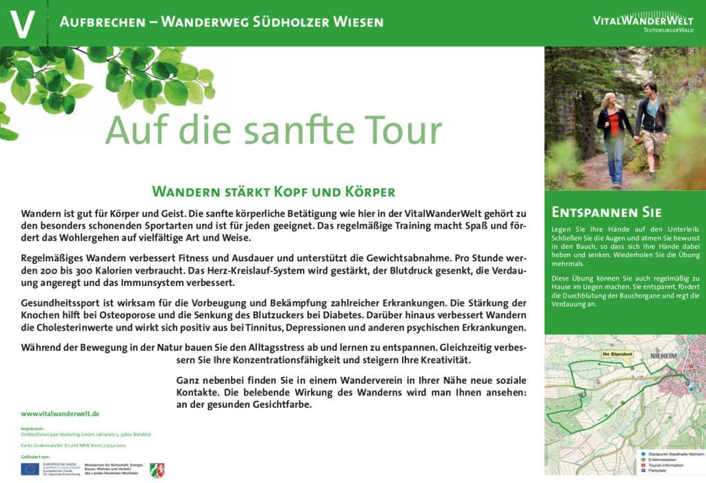 VitalWanderWelt Wanderweg Südholzer Wiesen - Auf die sanfte Tour