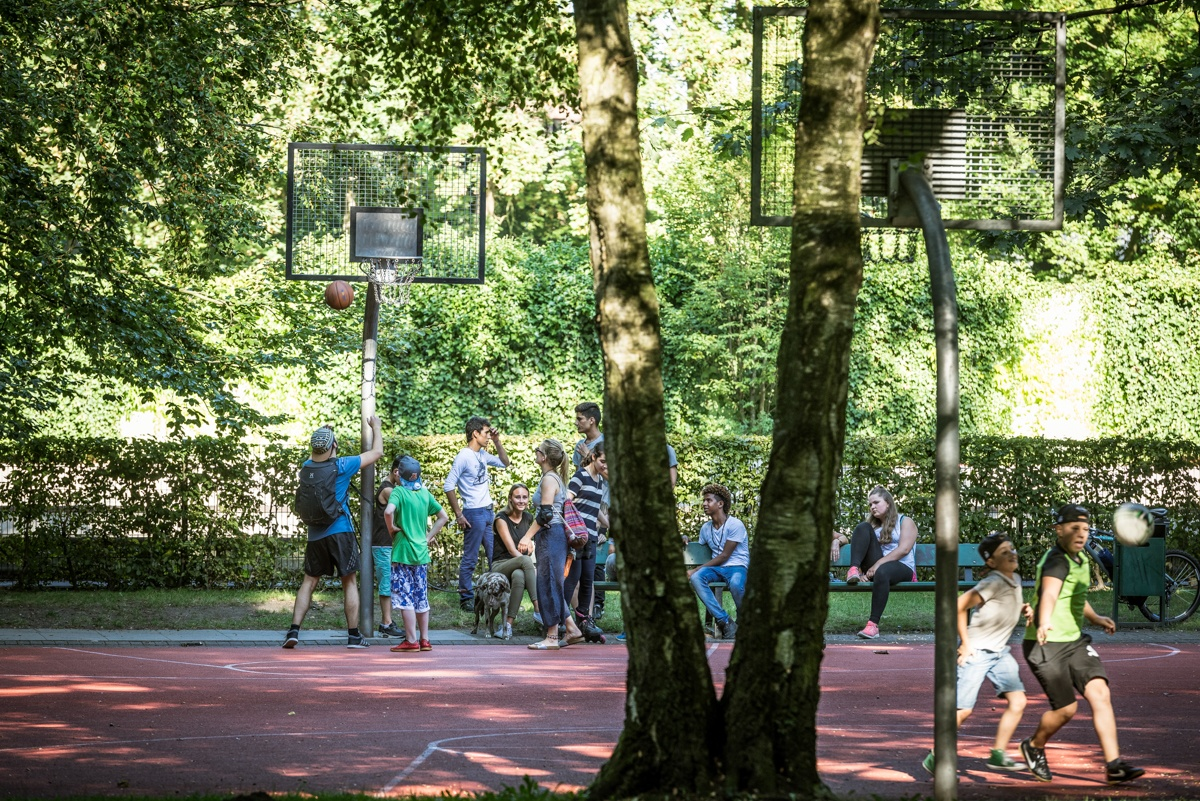 Basketball im Mohns Park in Gütersloh