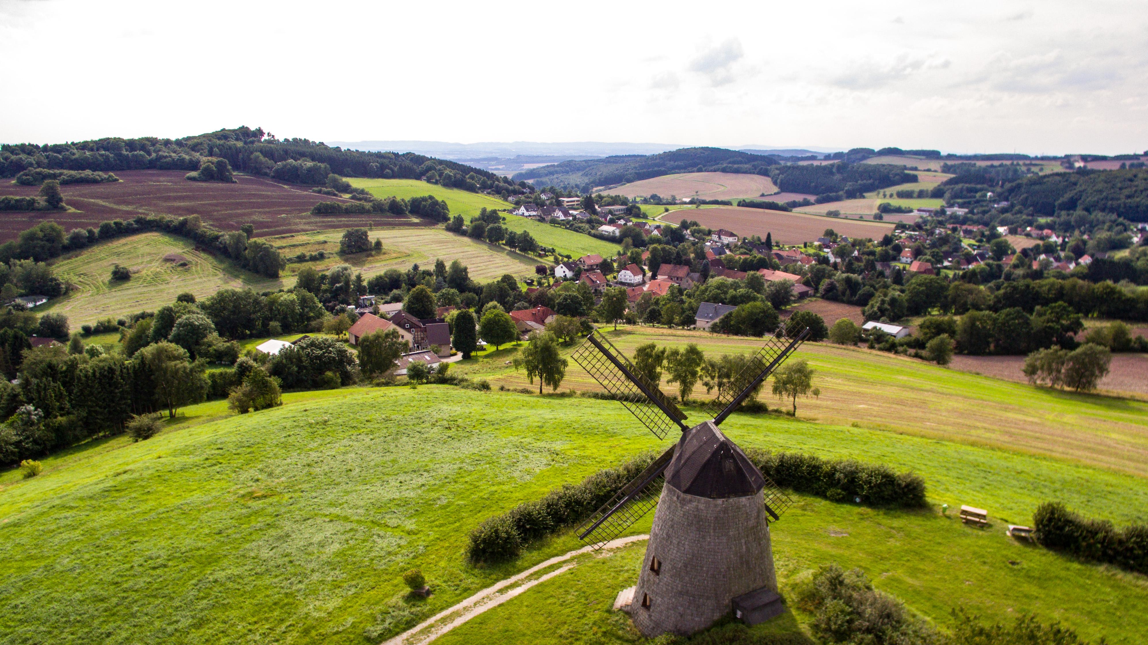 Luftaufnahme Windmühle Bavenhausen