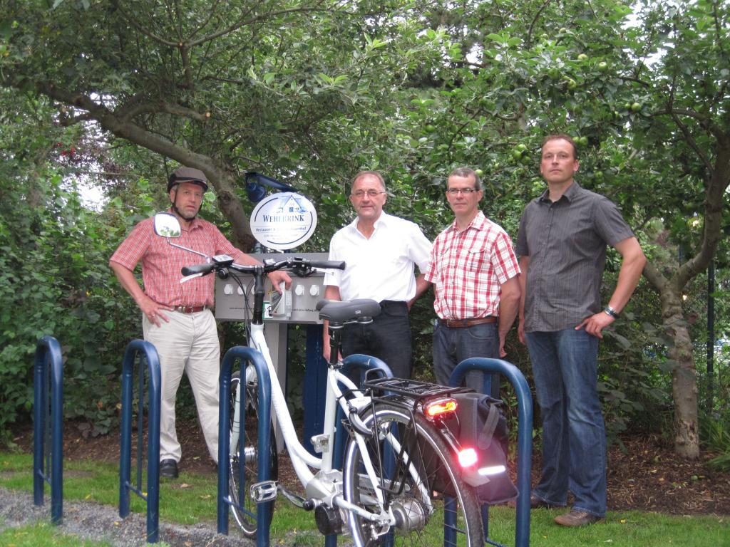 Akku-Aufladestation für Elektrofahrräder