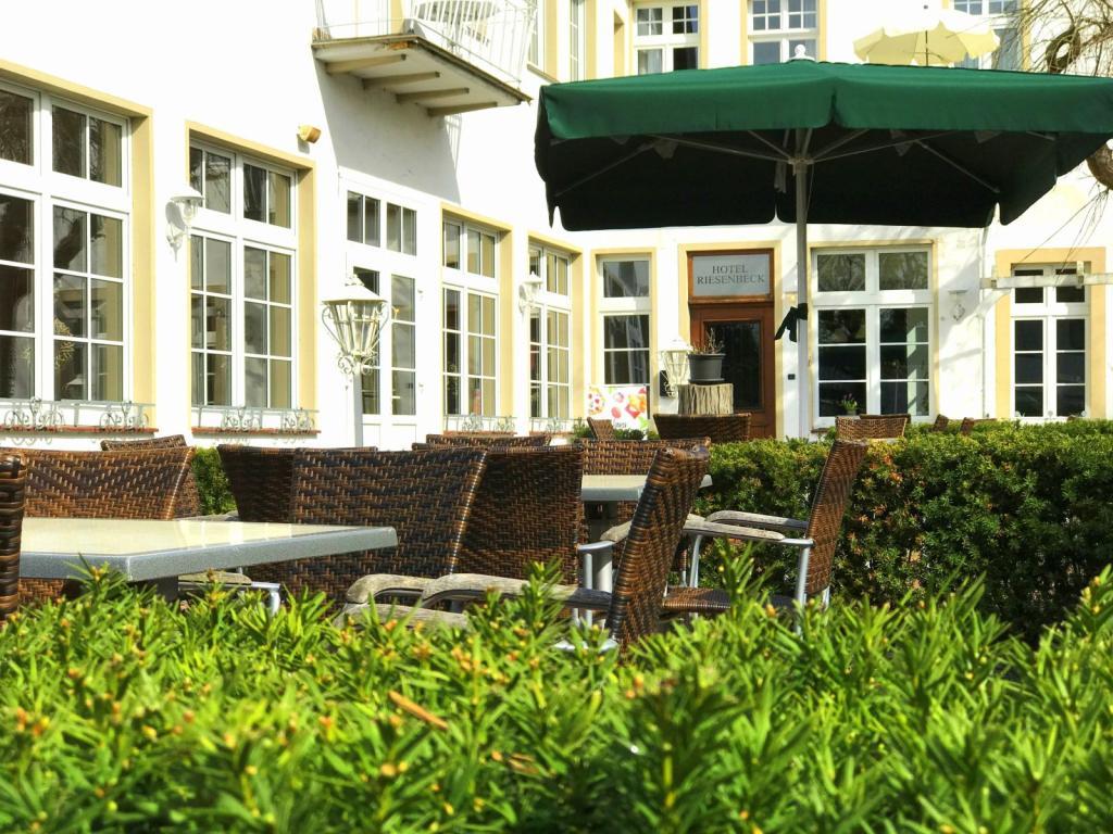Biergarten am Hotel Riesenbeck