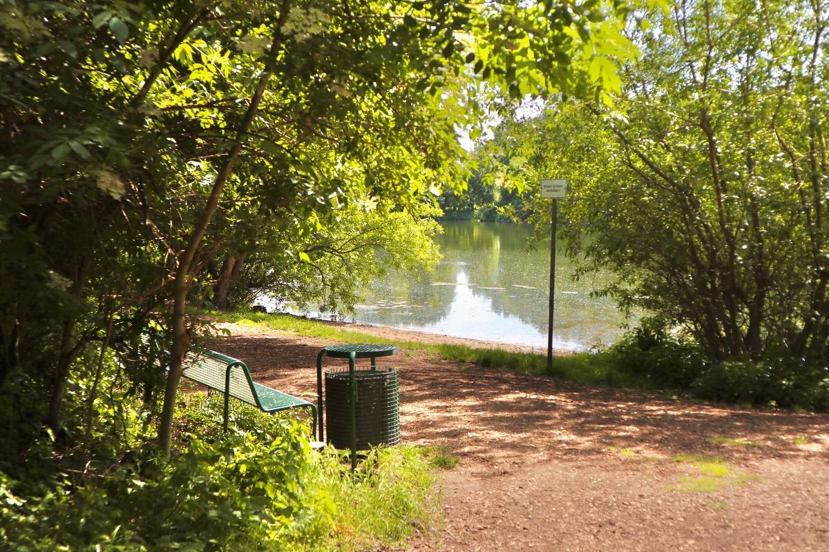 Sitzgelegenheit am Verler See