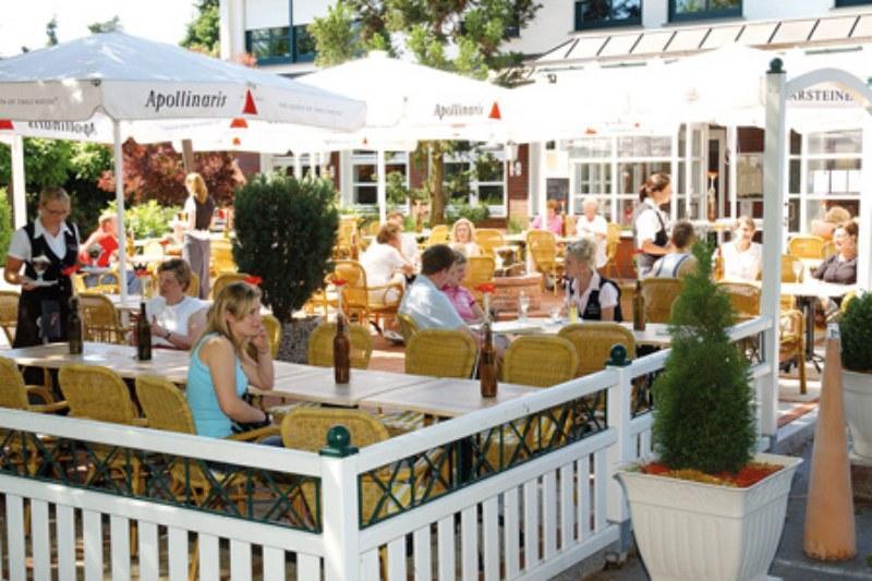 Biergarten im Hotel-Landrestaurant Schnittker