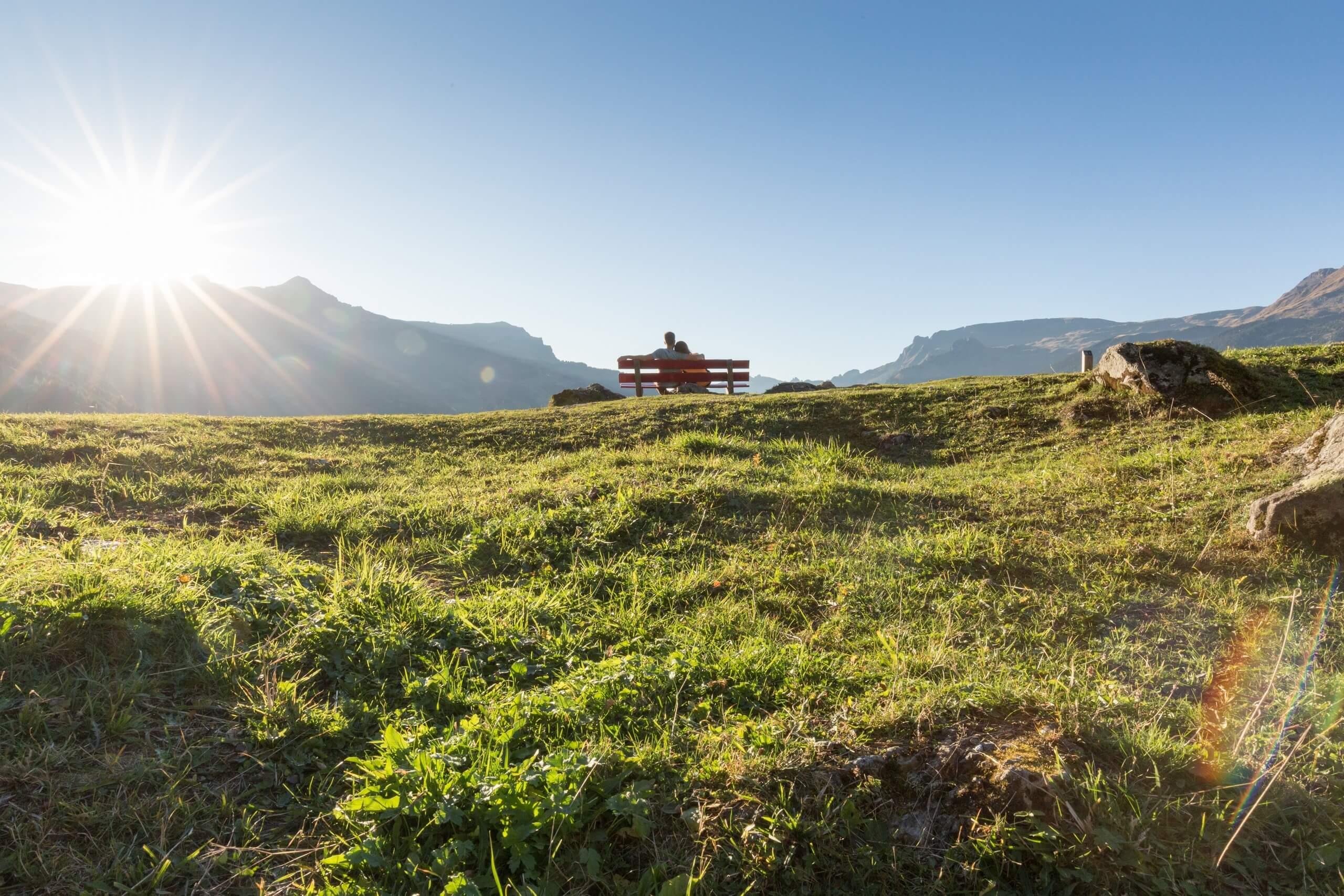 grindelwald-pfingstegg-sommer-sonne-paar-wiese