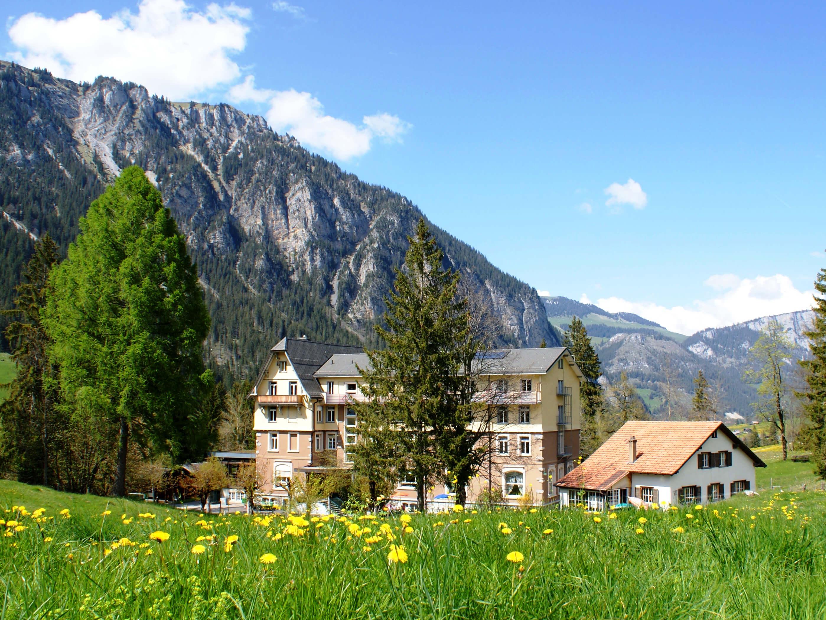 Das heutige Kurhaus Grimmialp
