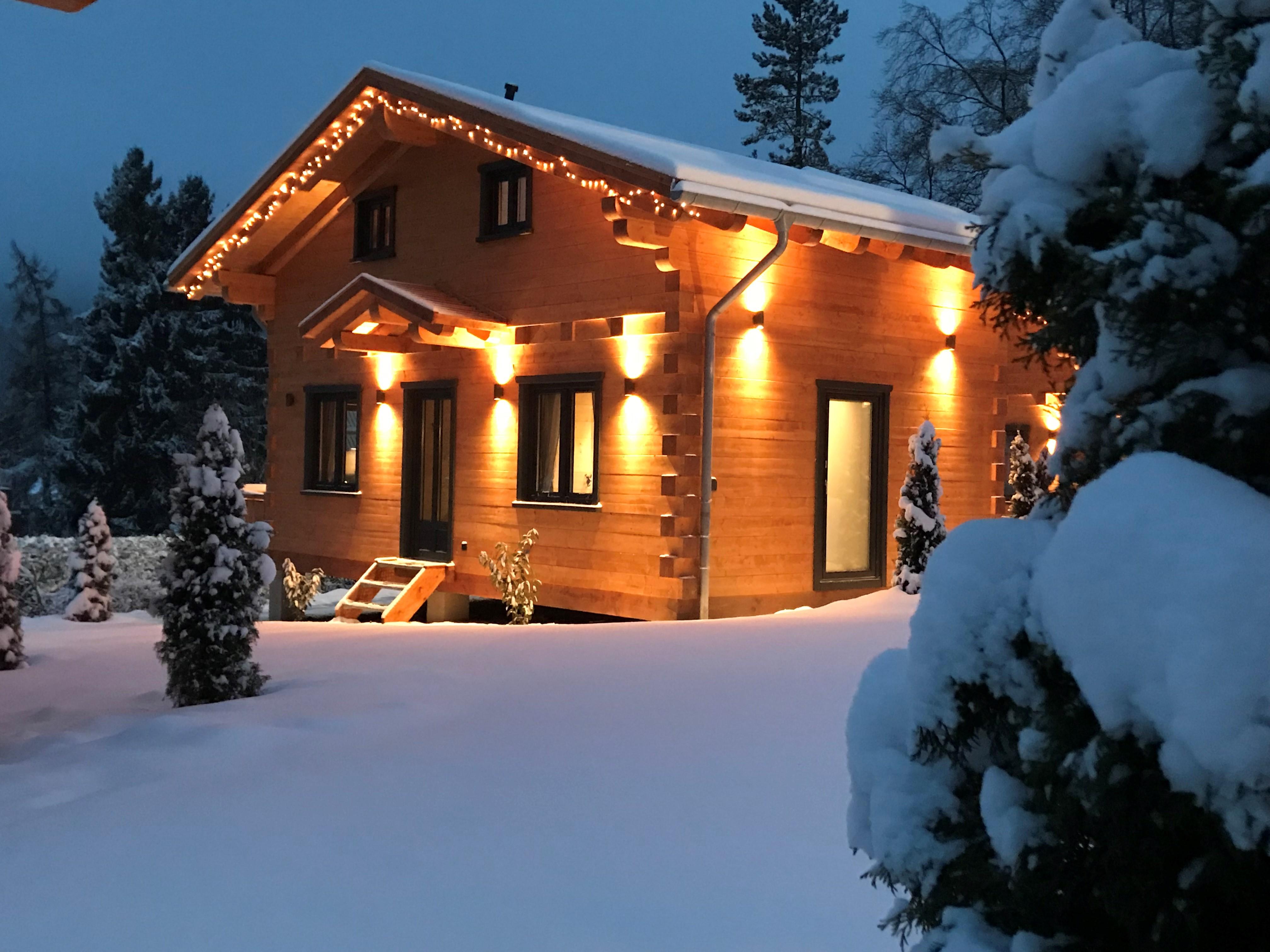 5 Sterne Blockhäuser in Hahnenklee - Außenansicht im Winter