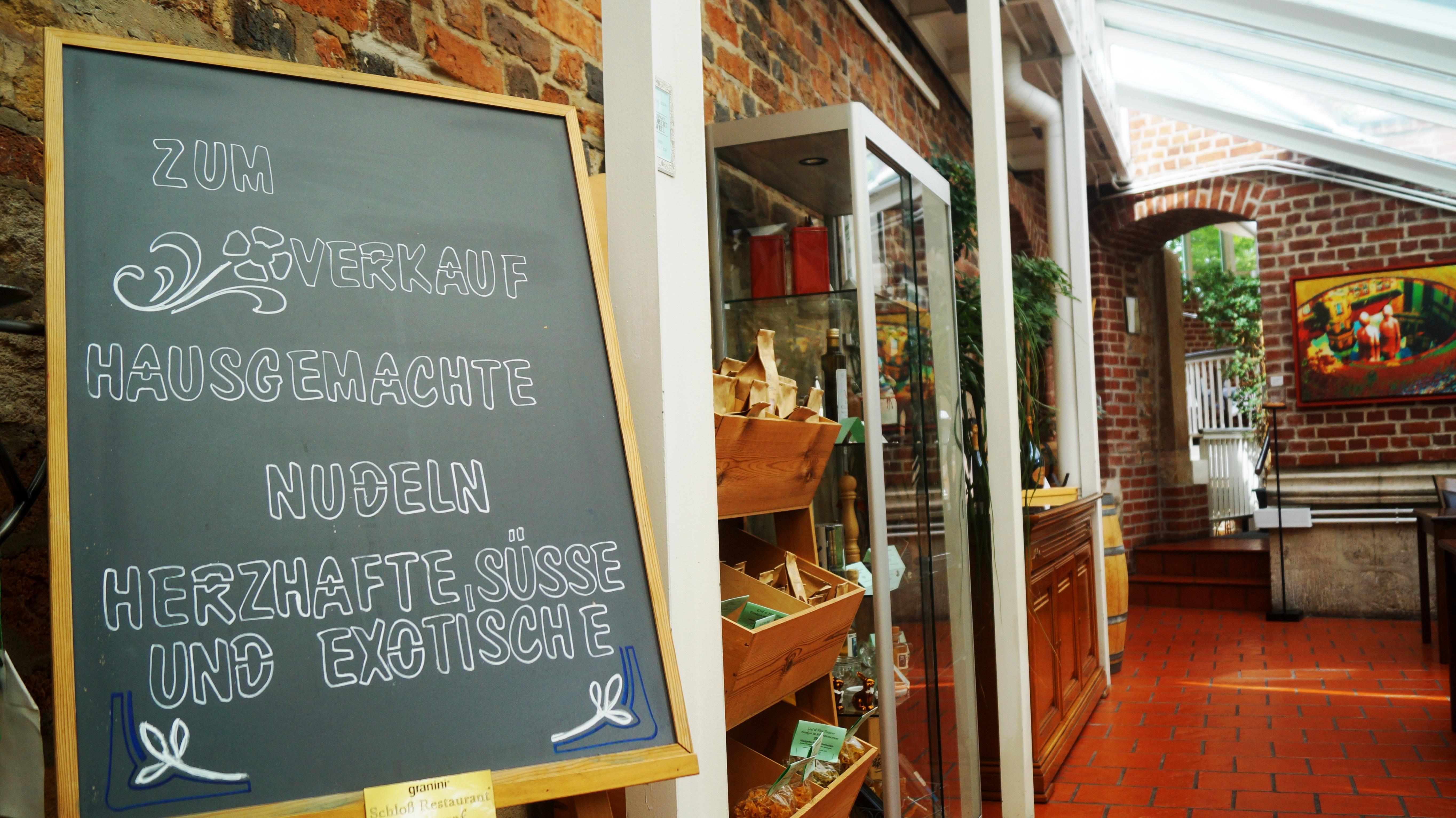 Hinweis auf hausgemachte Produkte Schlossrestaurant Zentgraf