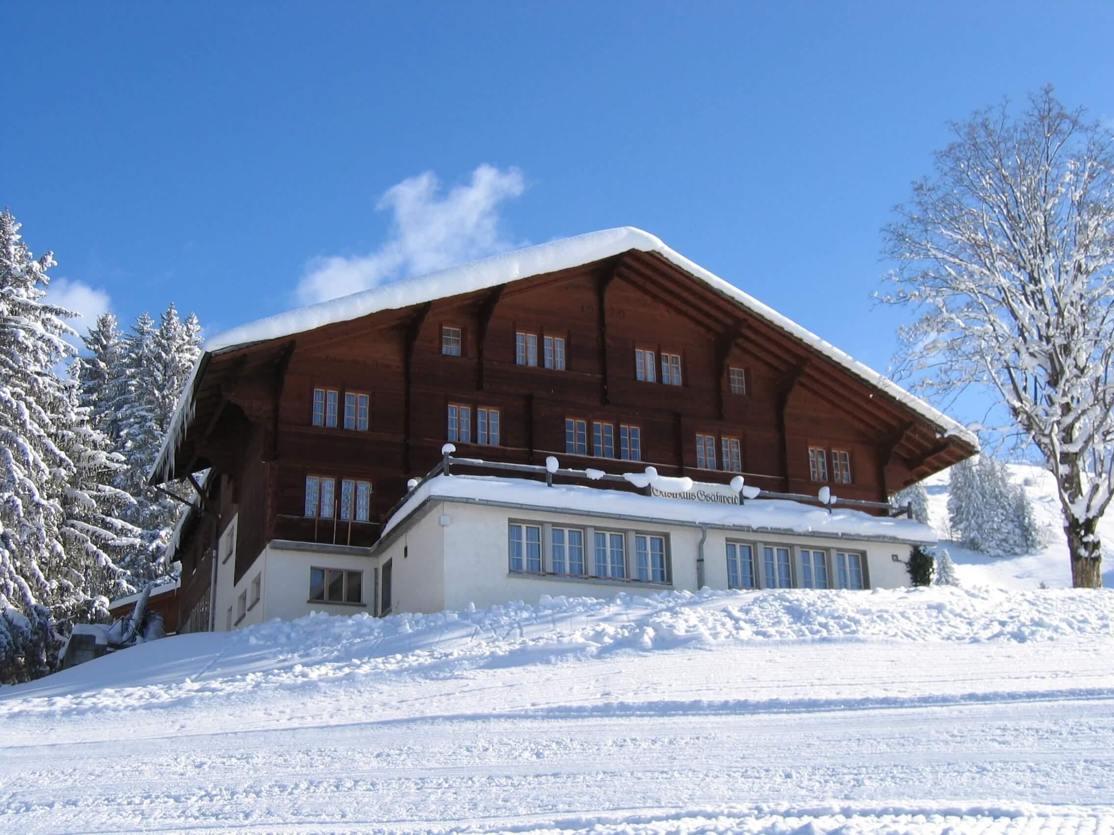 Gasthaus Gsässweid Aussenansicht Winter