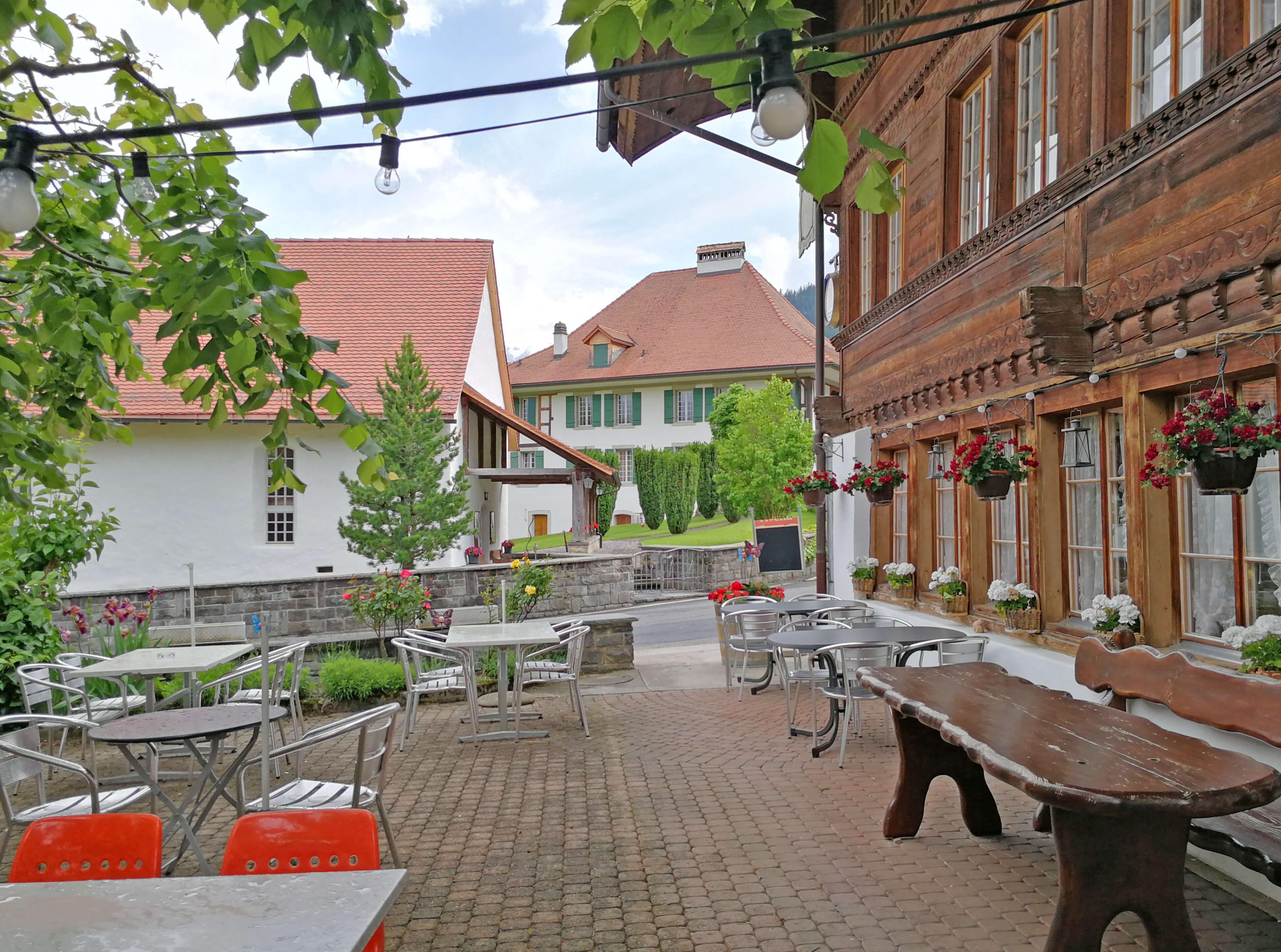 Restaurant Hirschen Diemtigen Terrasse