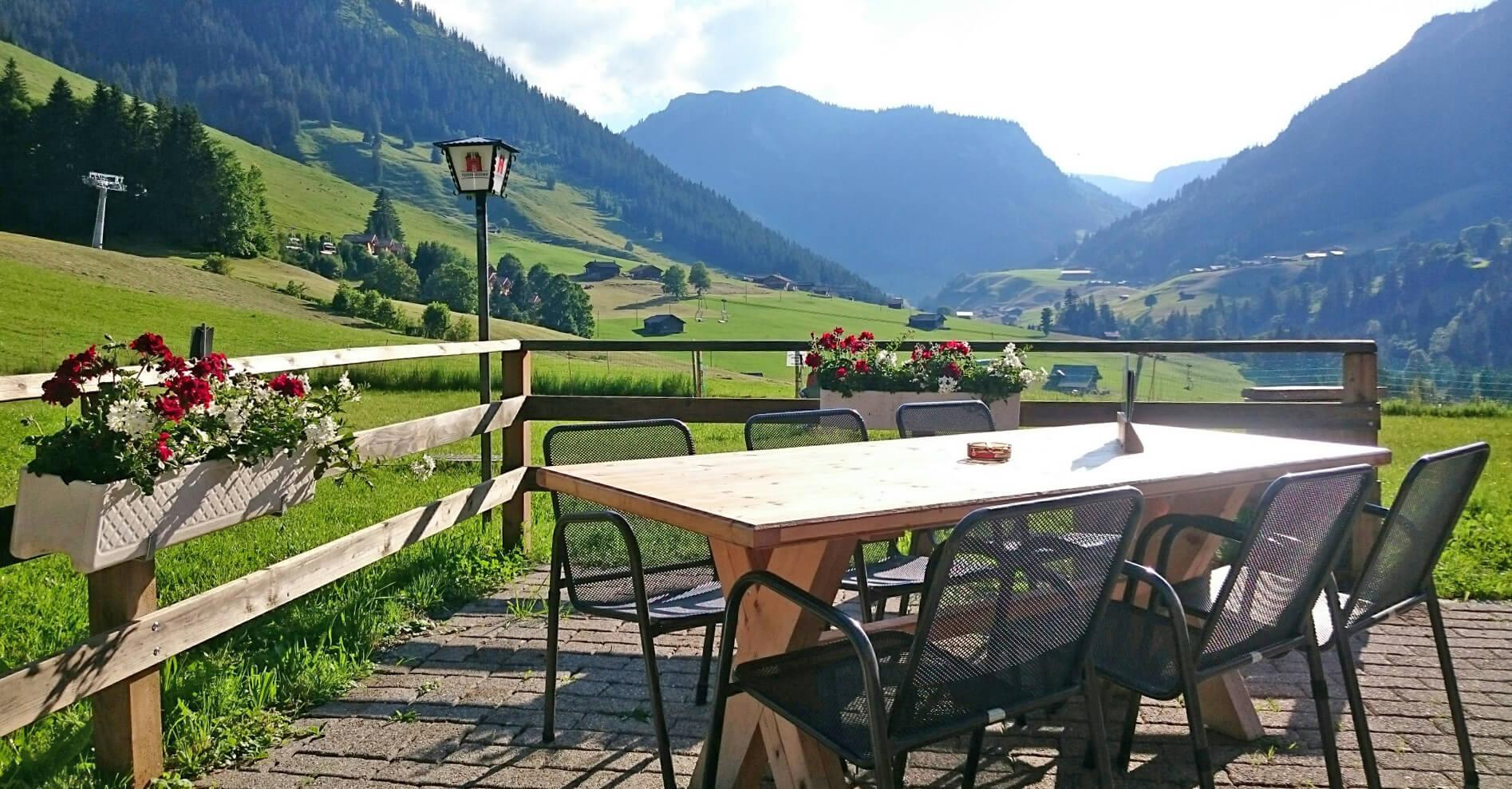Restaurant Wirieblick Terrasse Sommer Sonne