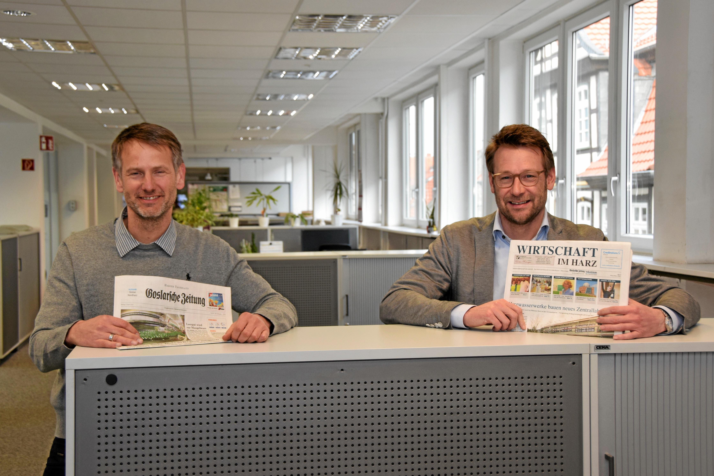 Verleger Klemens Karl Kraus und Philipp Krause