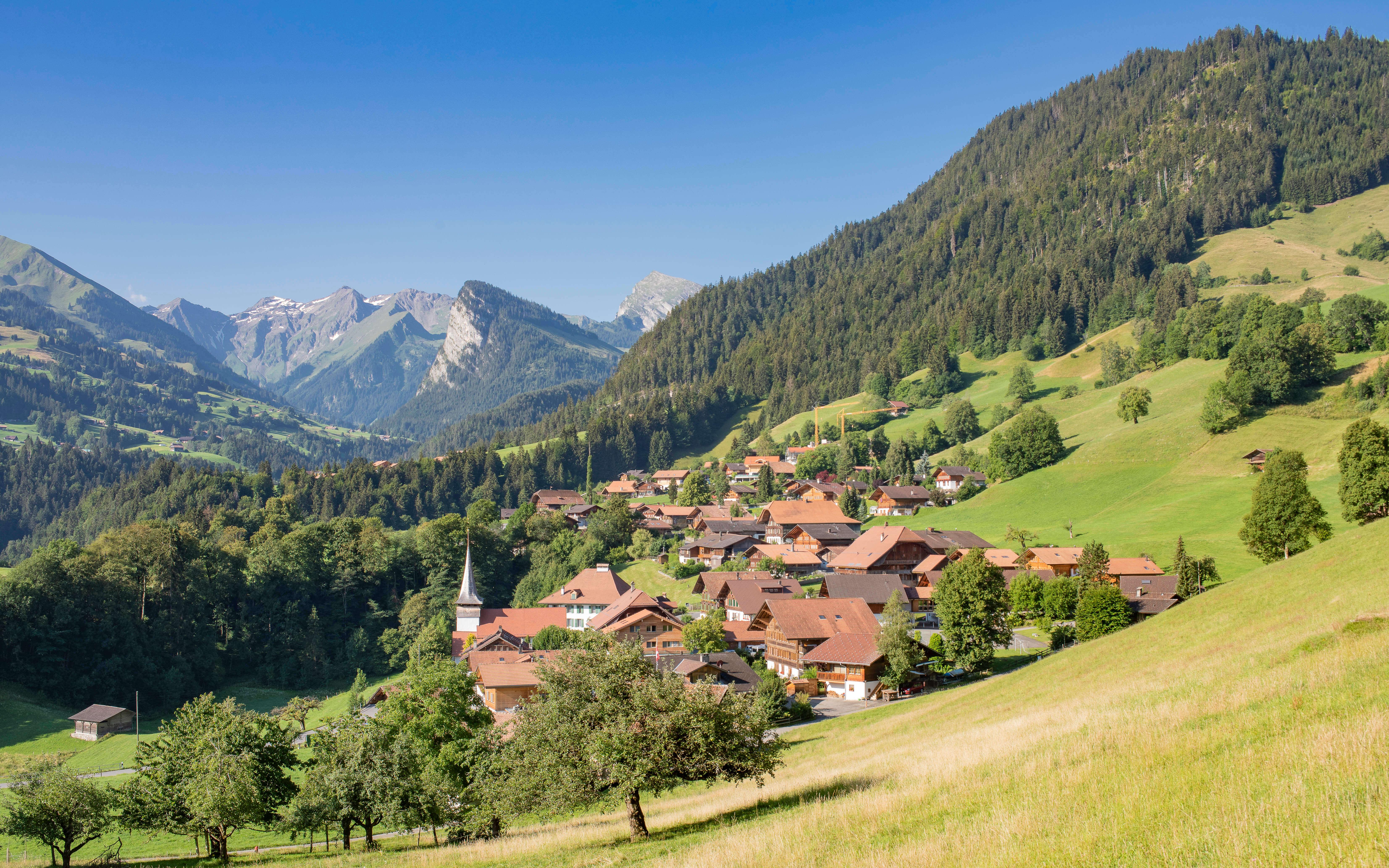 Diemtigtal Diemtigen Dorf Sommer