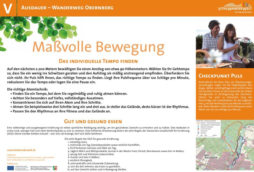 VitalWanderWelt Wanderweg Obernberg - Maßvolle Bewegung