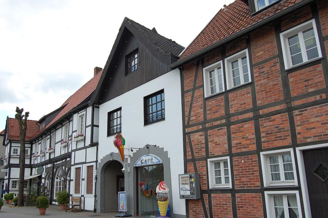 Szenerie am Marktplatz Clarholz