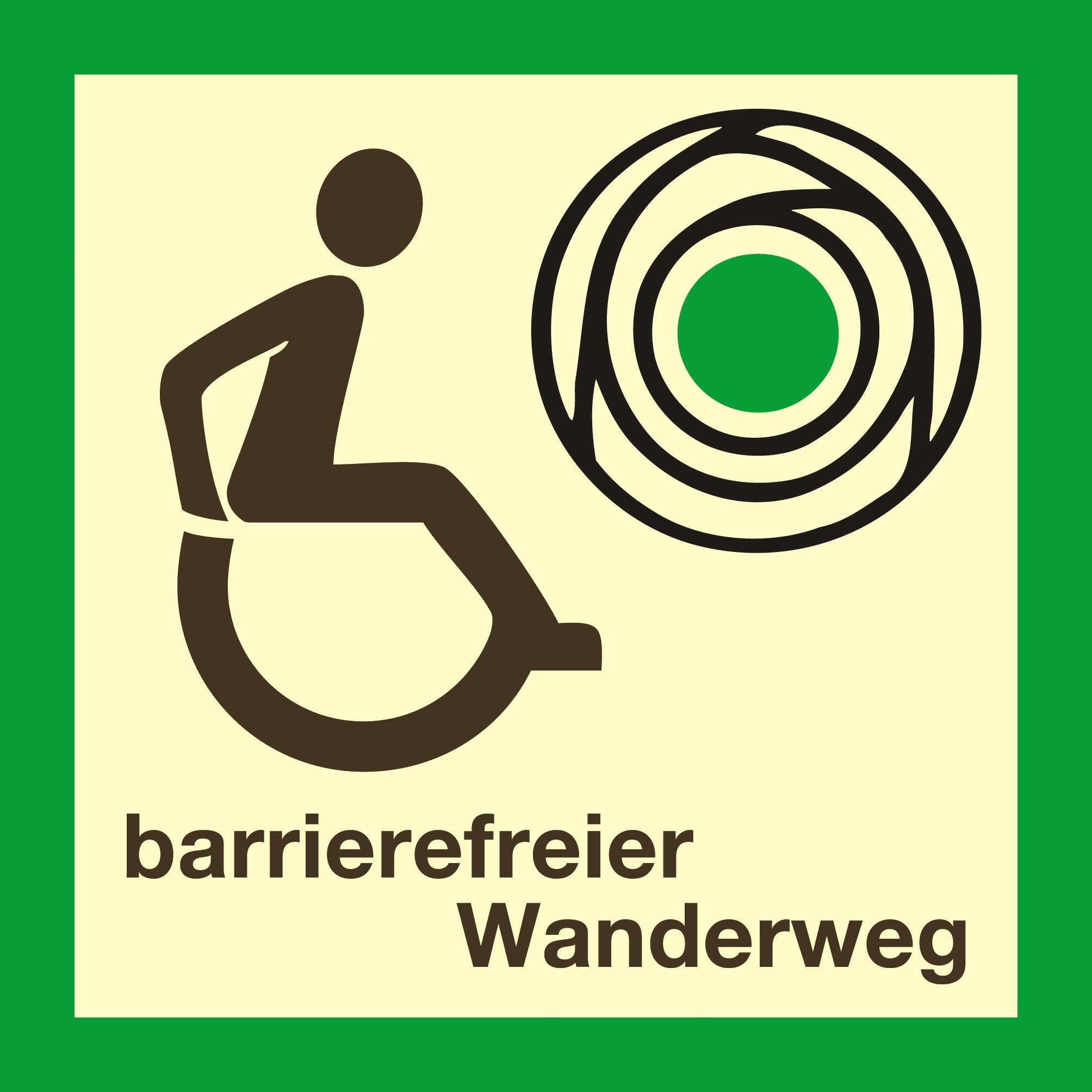 Logo barrierfreier Wanderweg