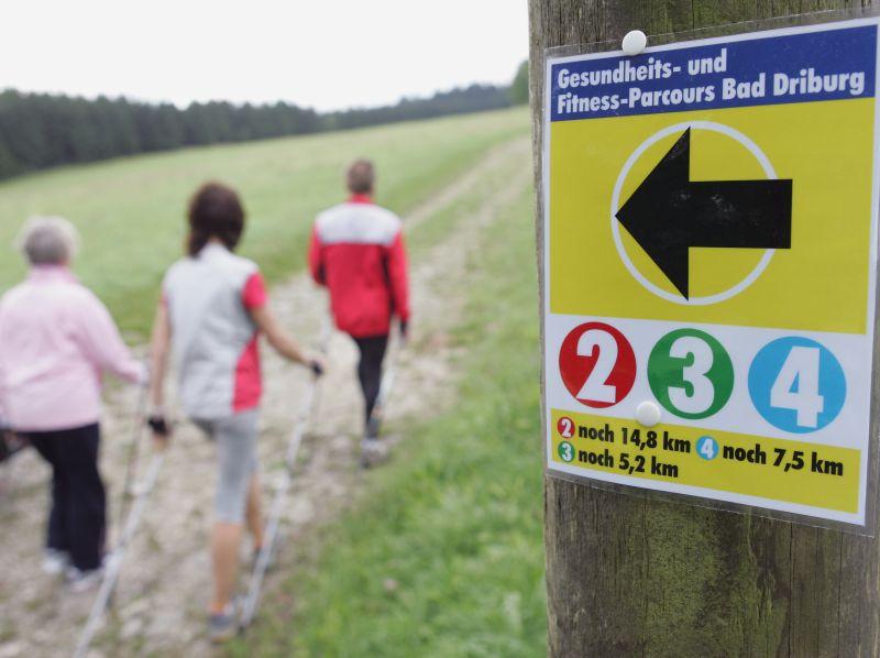 Nordic Walking in Bad Driburg, Teutoburger Wald
