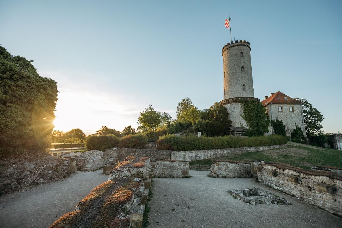 Sparrenburg Bielefeld mit Ausgrabungsbereich