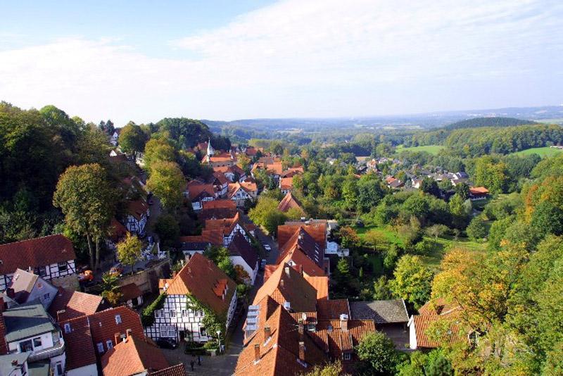 Tecklenburg - Altstadt von Oben