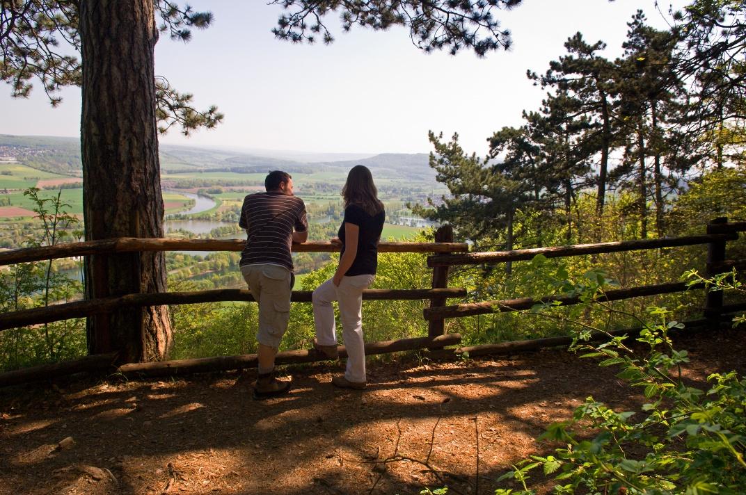 Aussichtspunkt am Ziegenberg auf den Rabenklippen Höxter