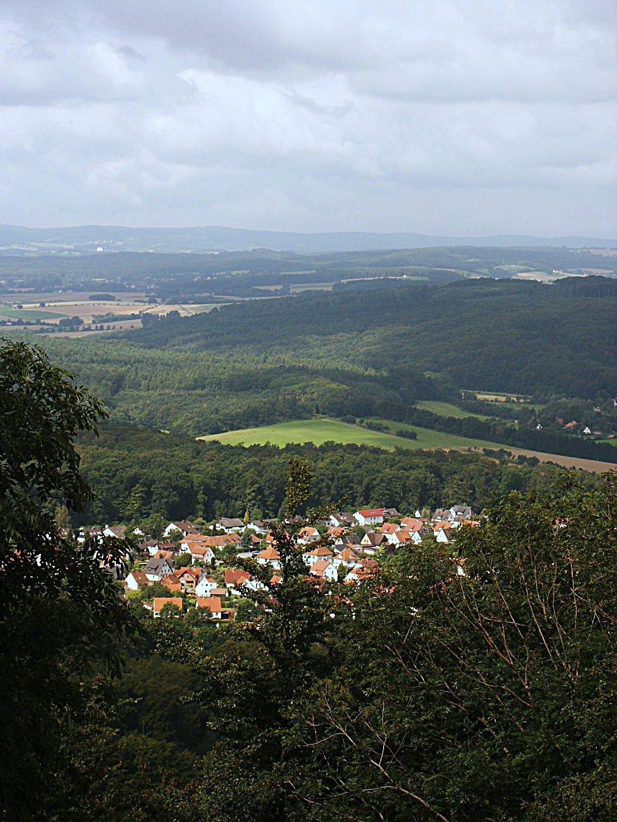Blick vom Kahlenbergturm auf Schieder