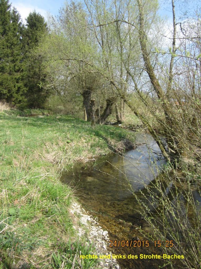 Strohte in der alten kultivierten Naturlandschaft