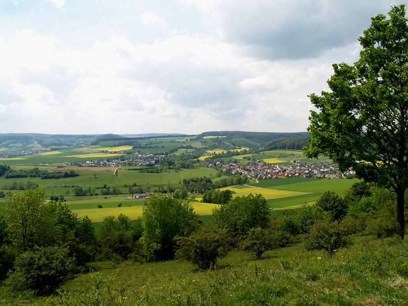 Blick vom Räuschenberg auf Brenkhausen