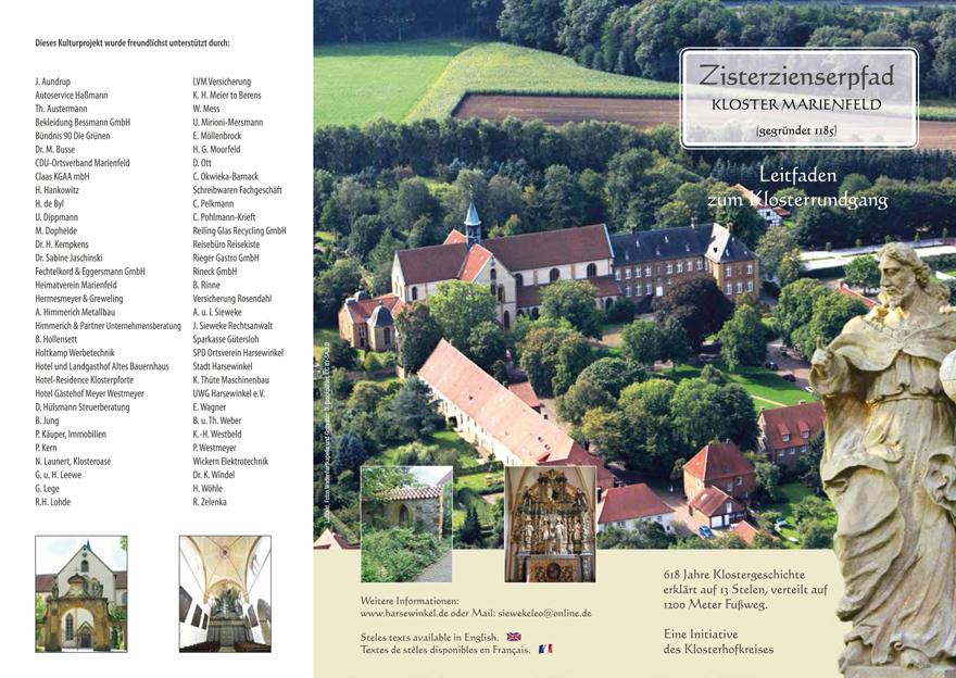 Zisterzienserpfad Kloster Marienfeld Faltblatt Stelen Seite 1