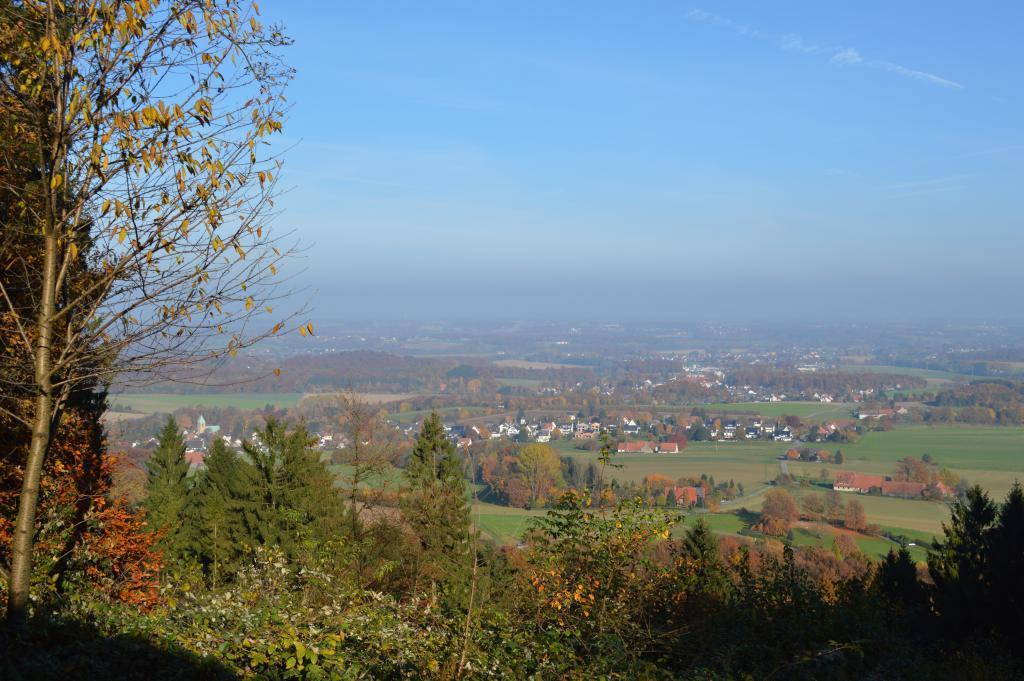 Aussicht von der Schwedenschanze im Herbst