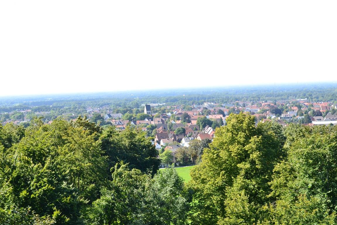 Blick von der Kaffeemühle über Halle (Westf.)