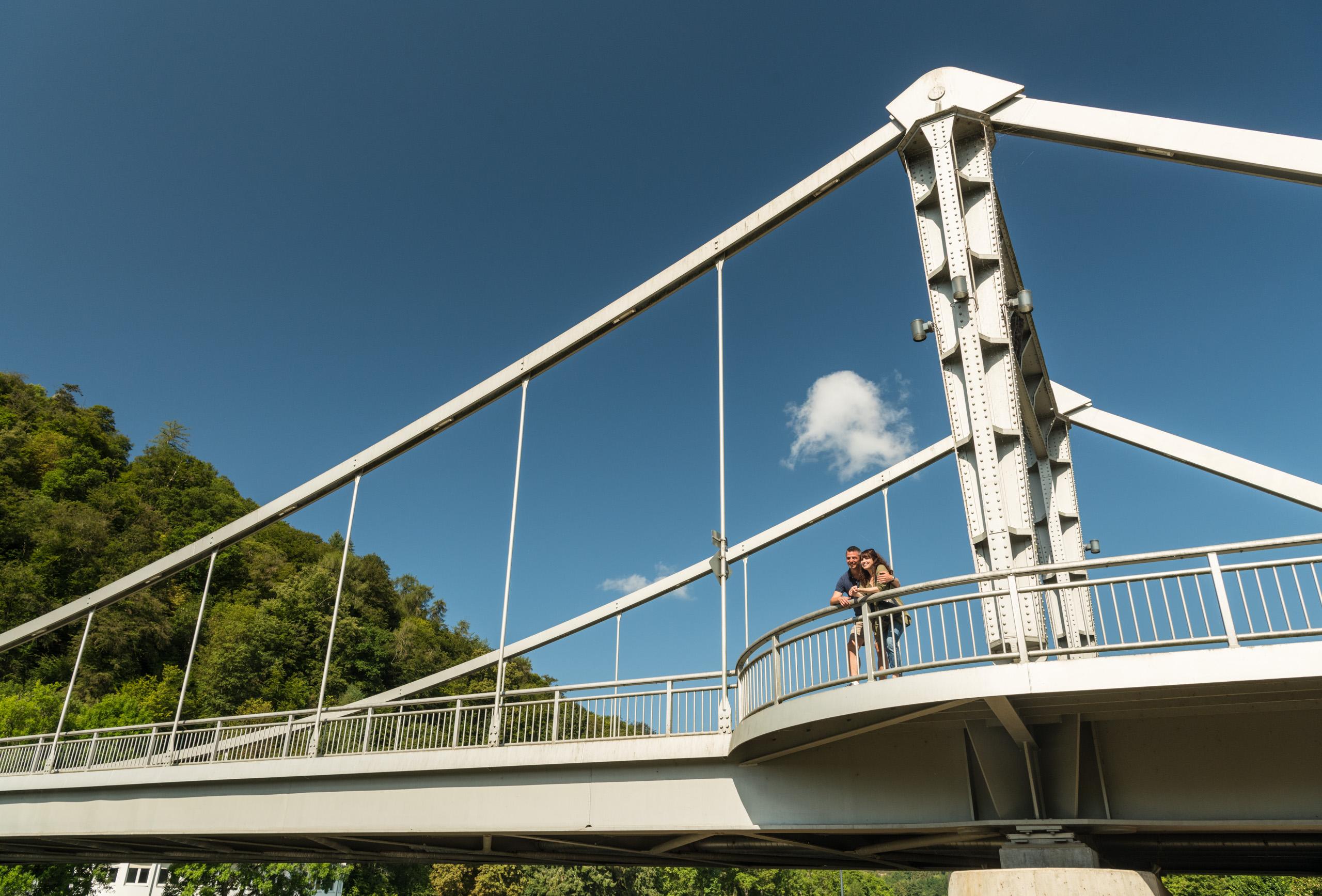 Kettenbrücke über der Lahn