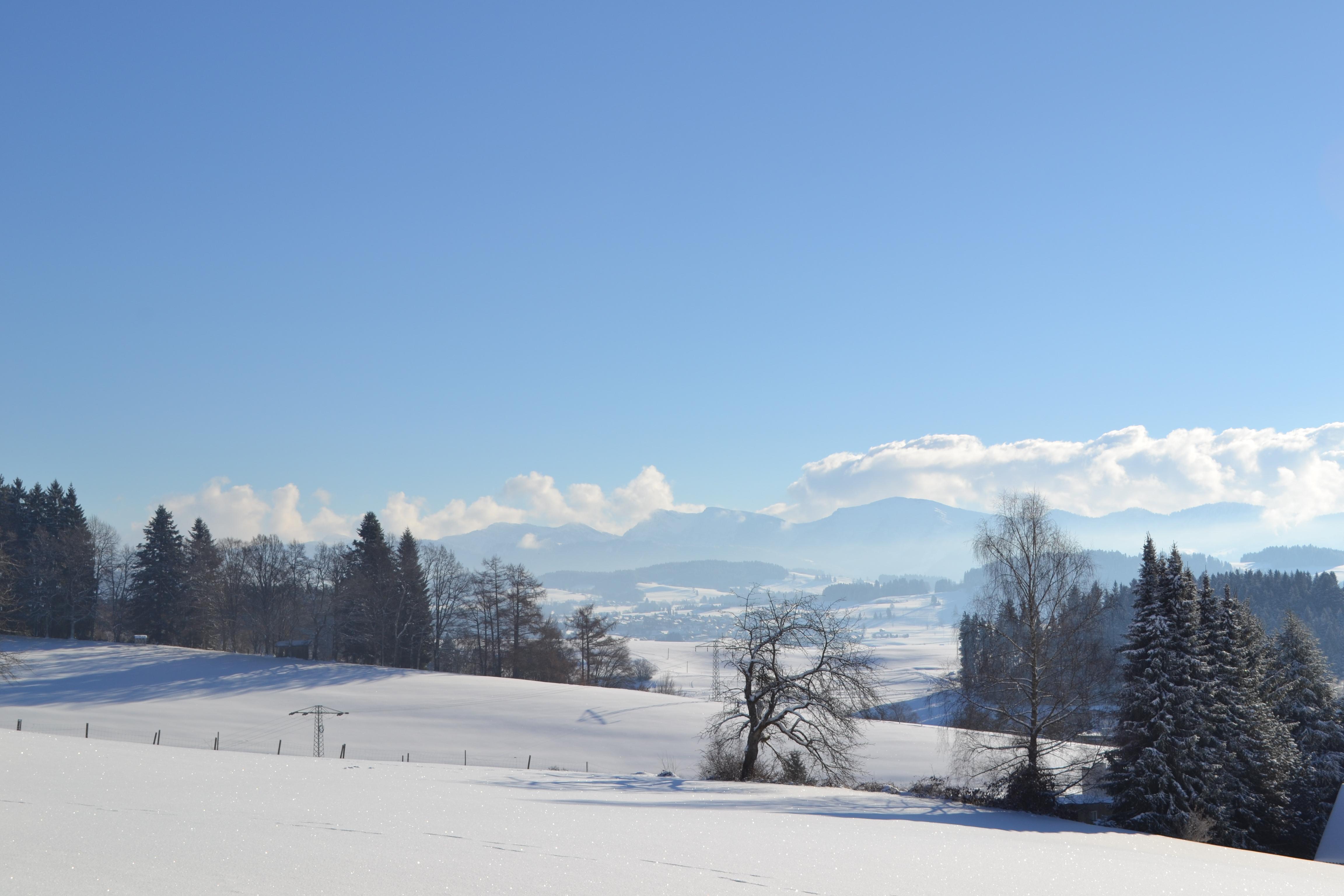 Blick vom Nadenberg im Winter
