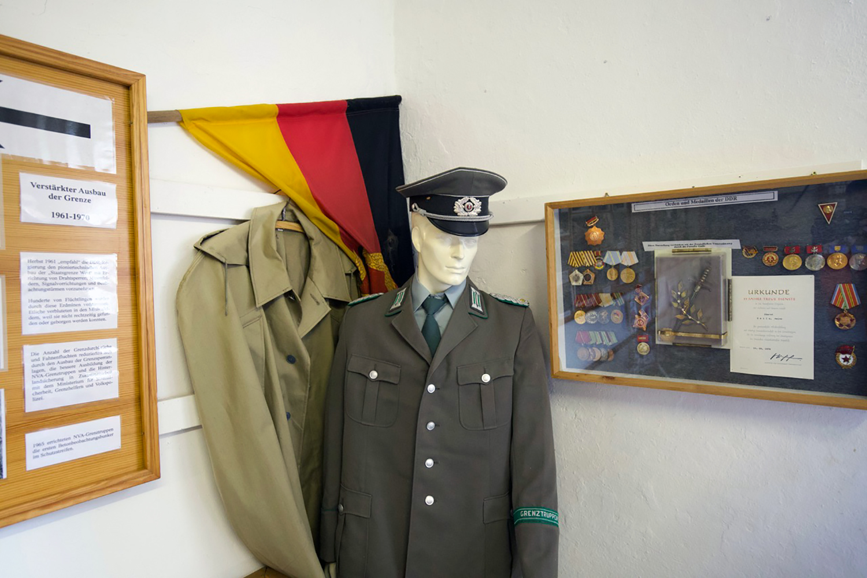Ausstellungsraum im Museum für Grenze und Landwirtschaft in Böckwitz