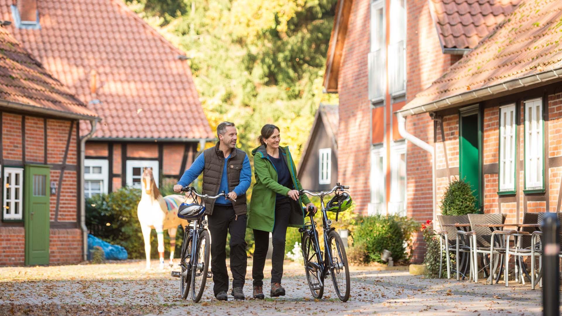 Radfahren zur Herbstzeit