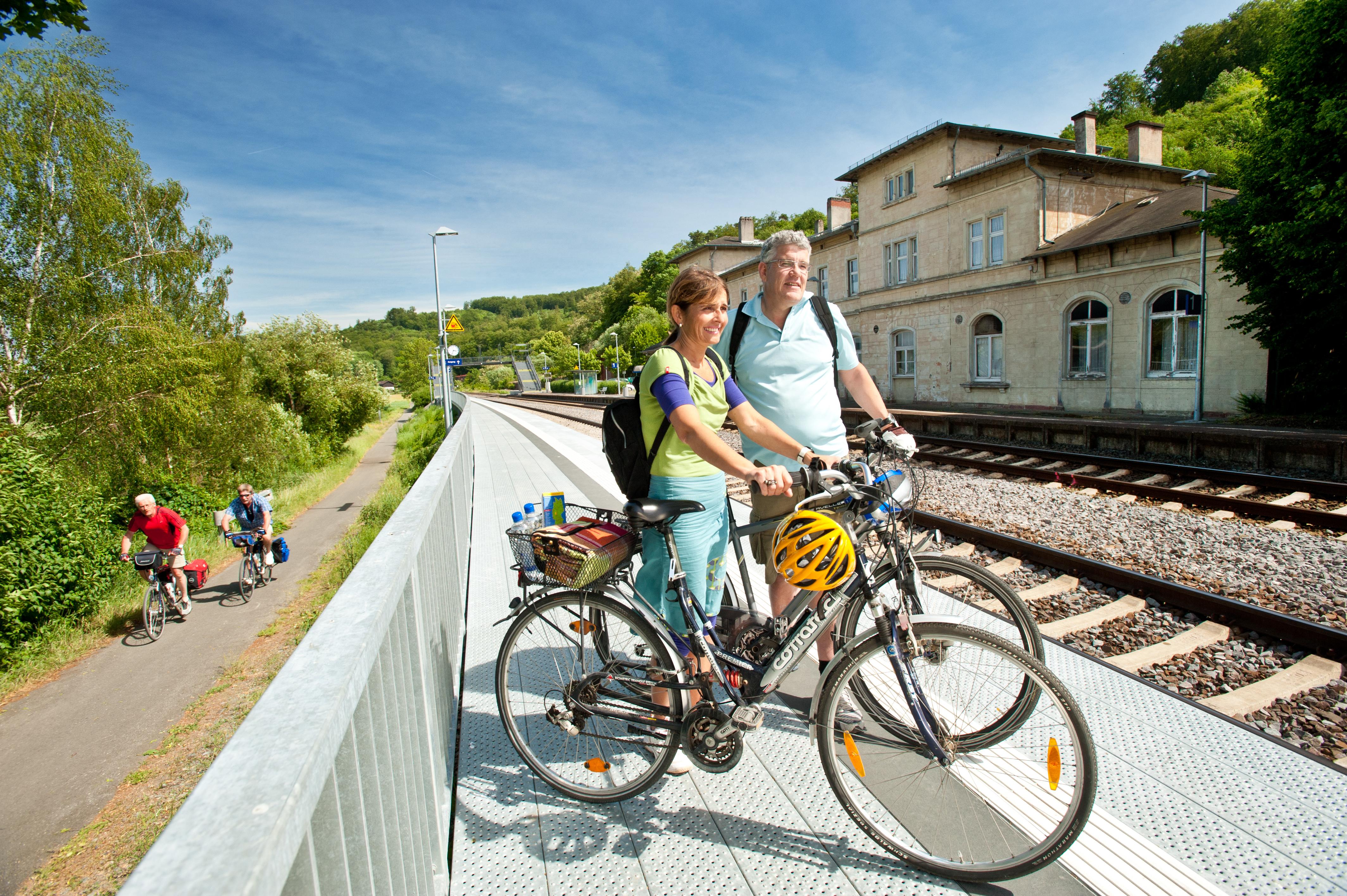 Radfahren auch mit der Bahn