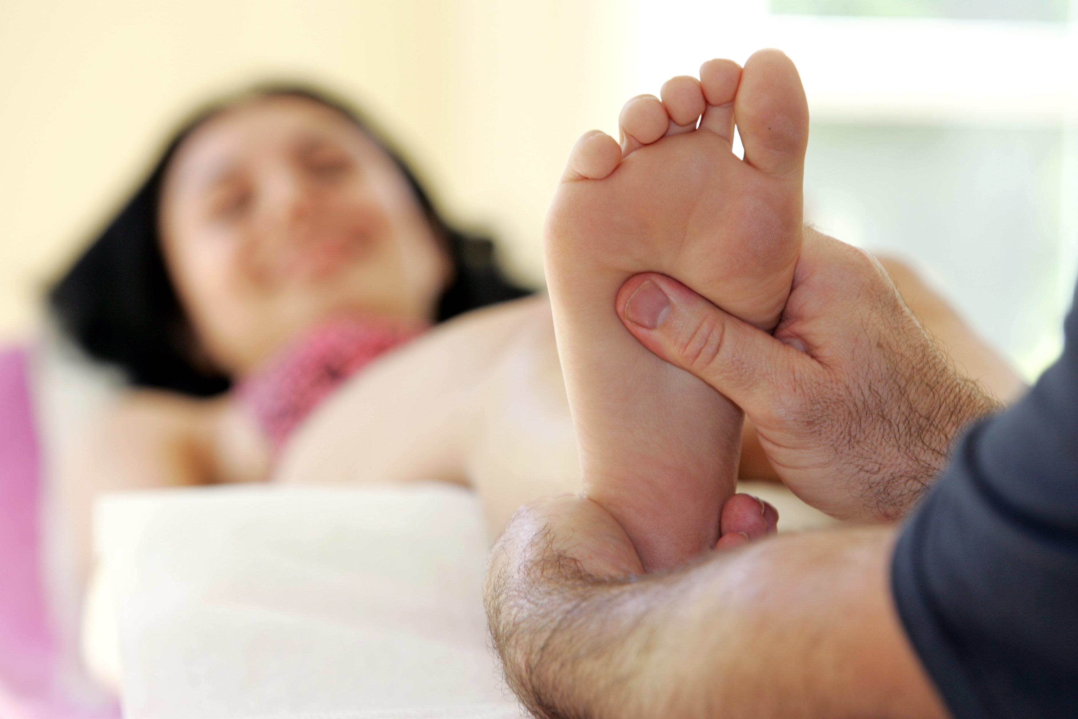 Aktivierende Fußreflexzonenmassage