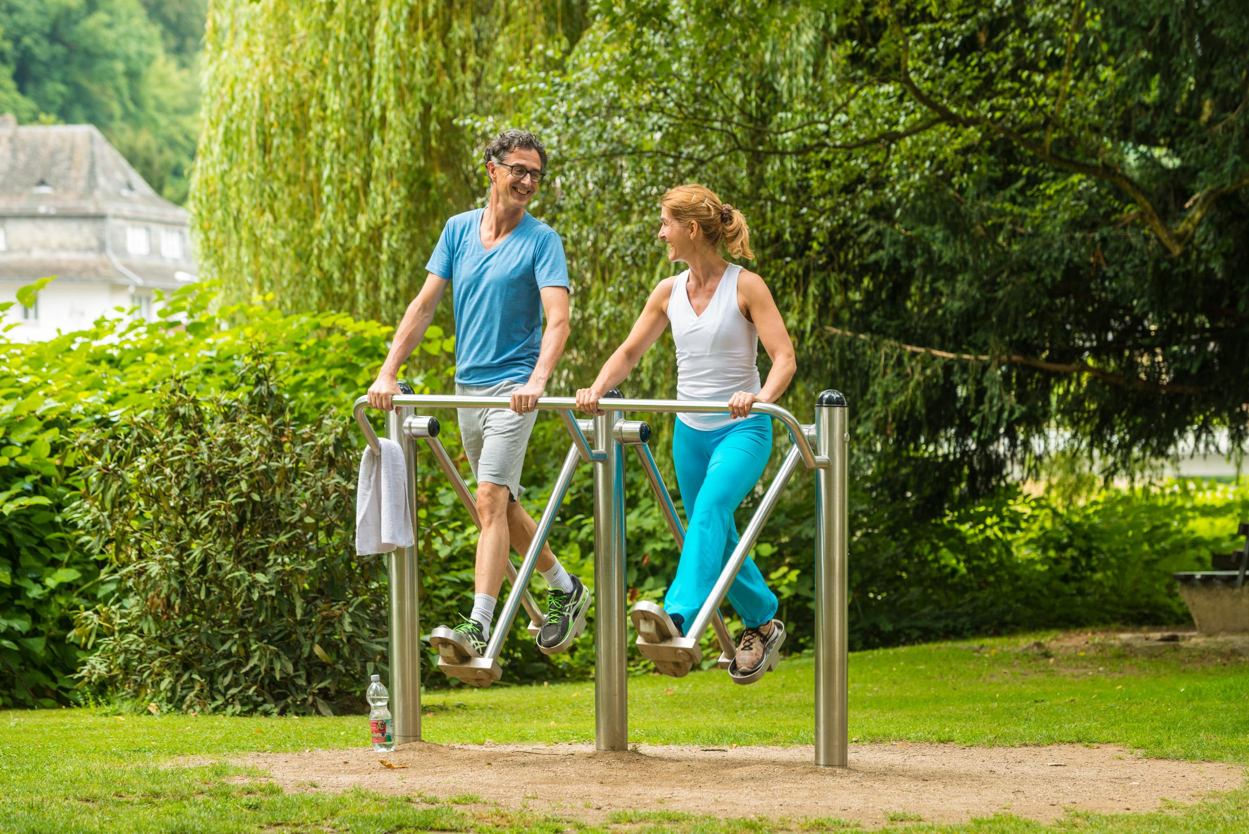 Fitness-Parcours im Kurpark