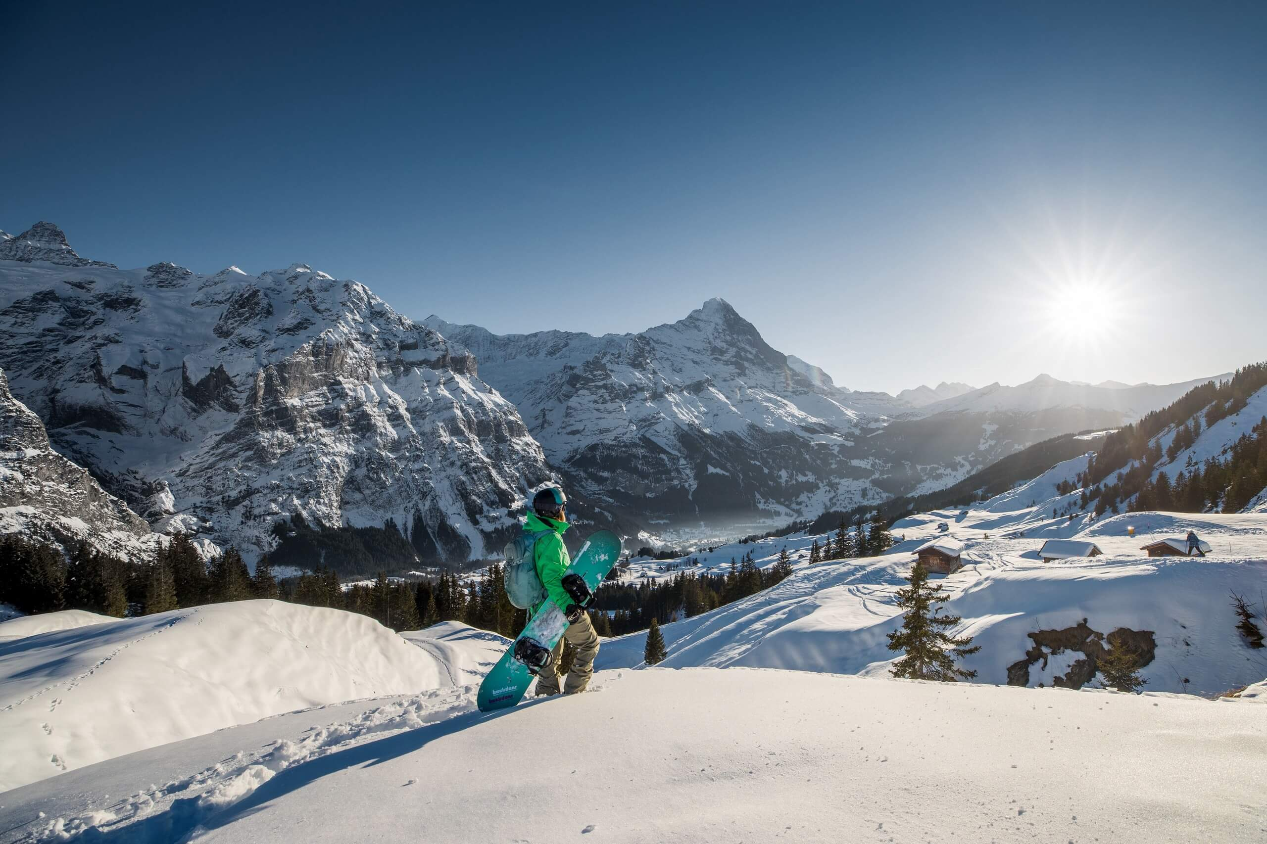 first-snowboard-winter-aussicht