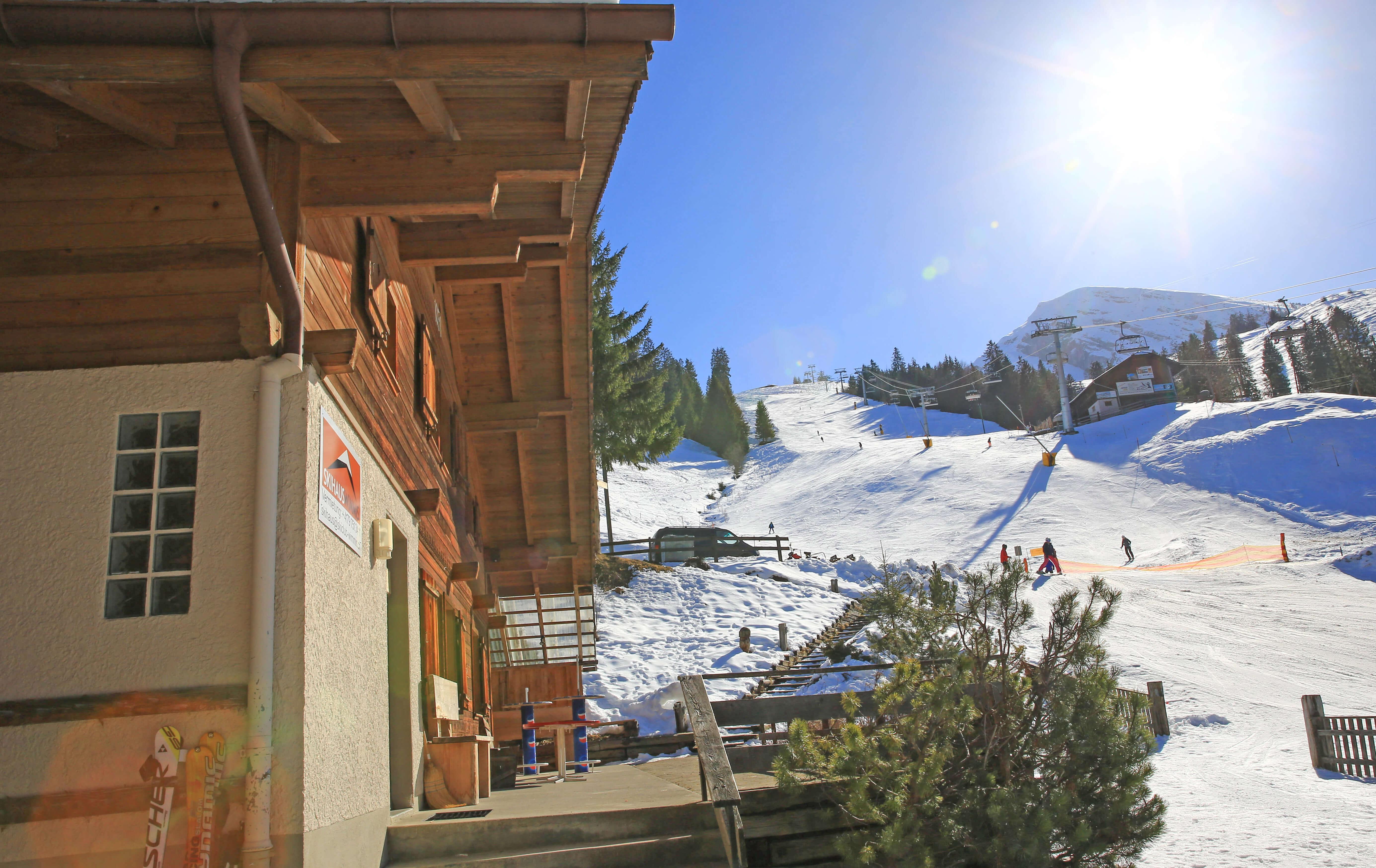 Ausseansicht Winter Skipiste