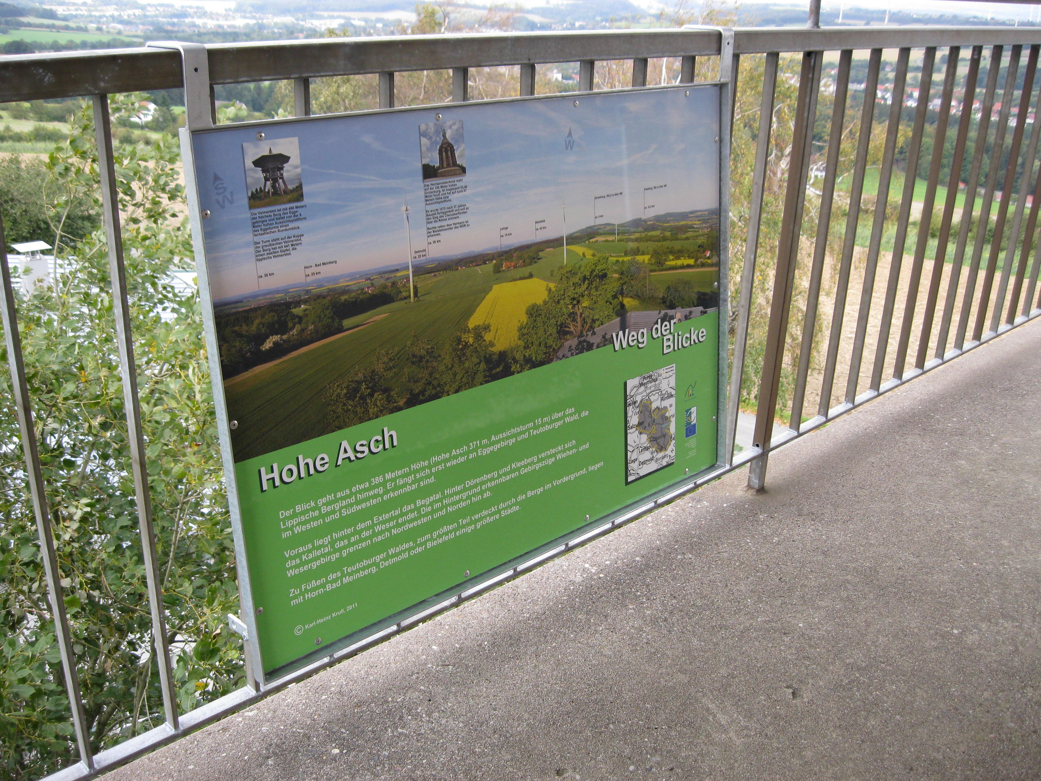 Panoramatafel auf der Aussichtsplattform