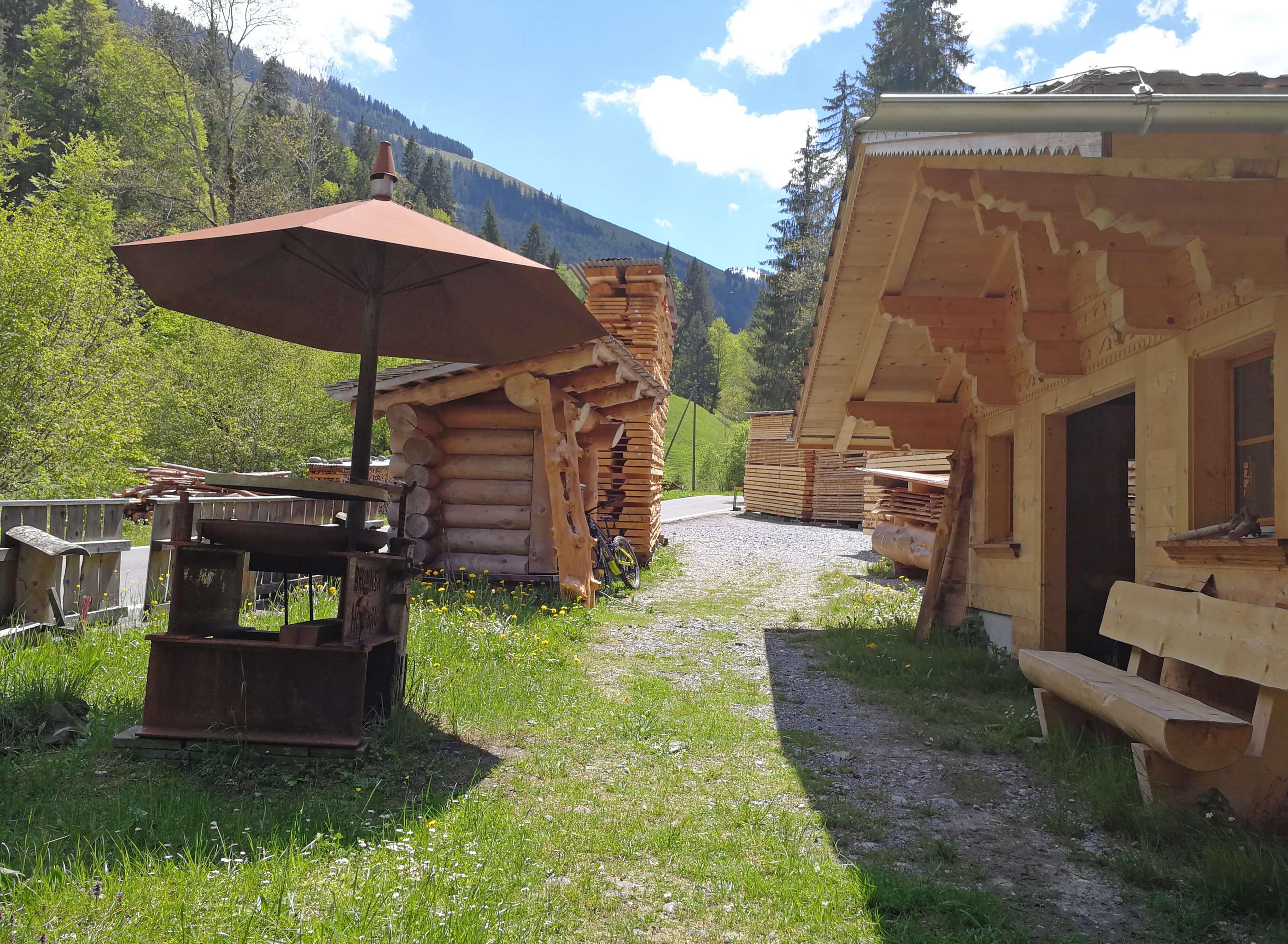 Ideal für einen Zwischenstopp auf dem Talwanderweg