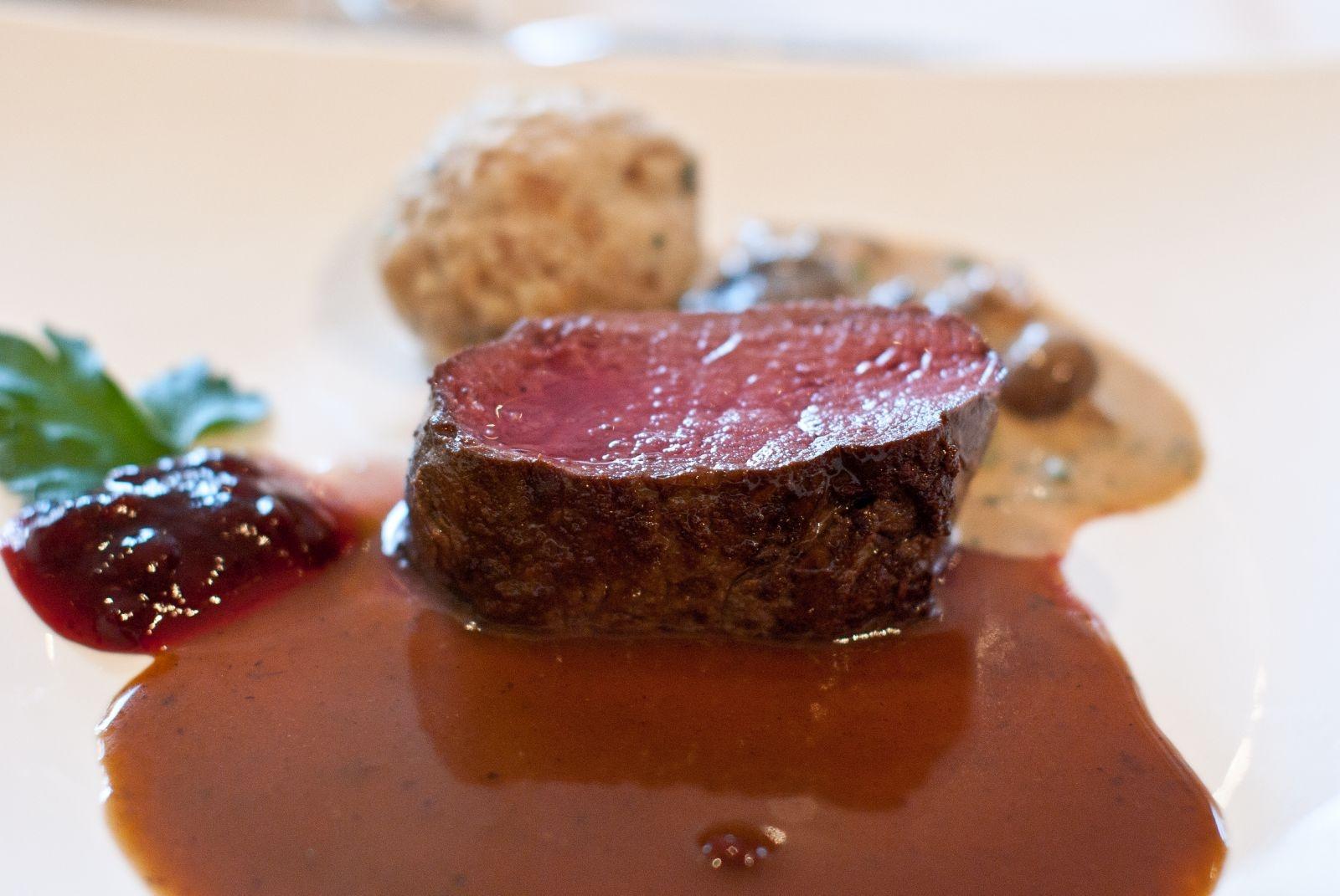 Fleischgericht in Zeitlers Hotel, Marsberg