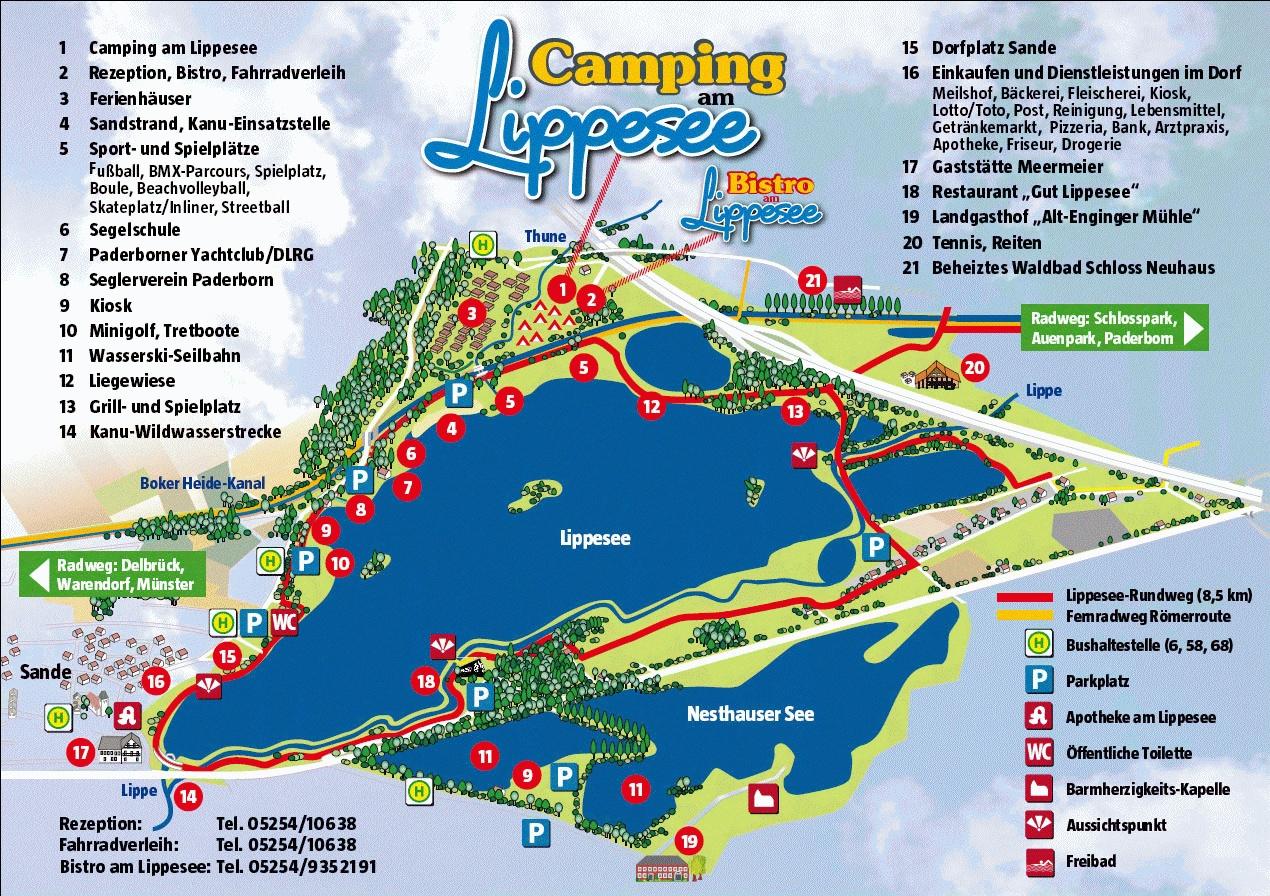 Übersichtskarte Freizeit- und Wohnpark am Lipeesee