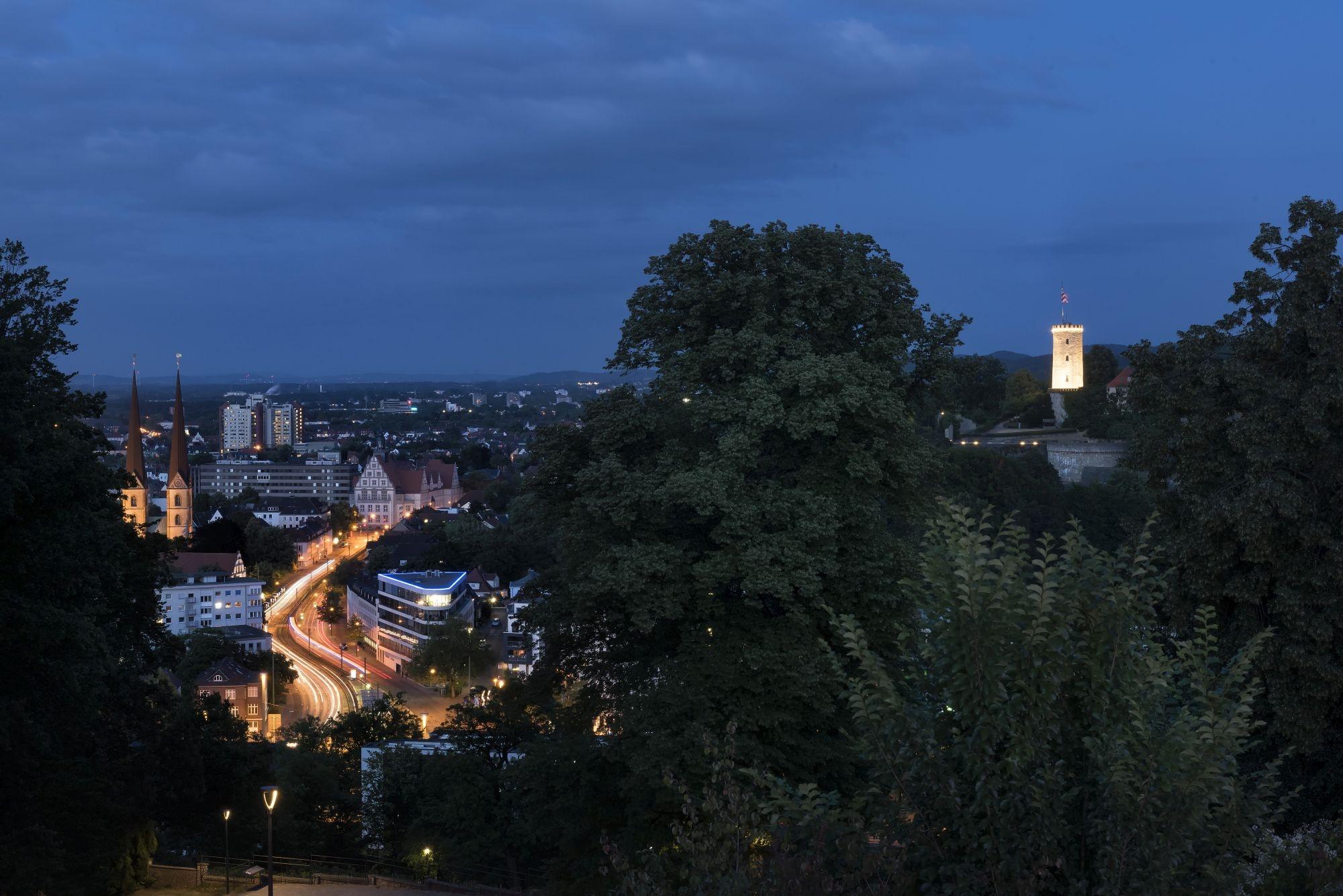 Blick von der Terrasse des Mercure Hotel Bielefeld Johannisberg